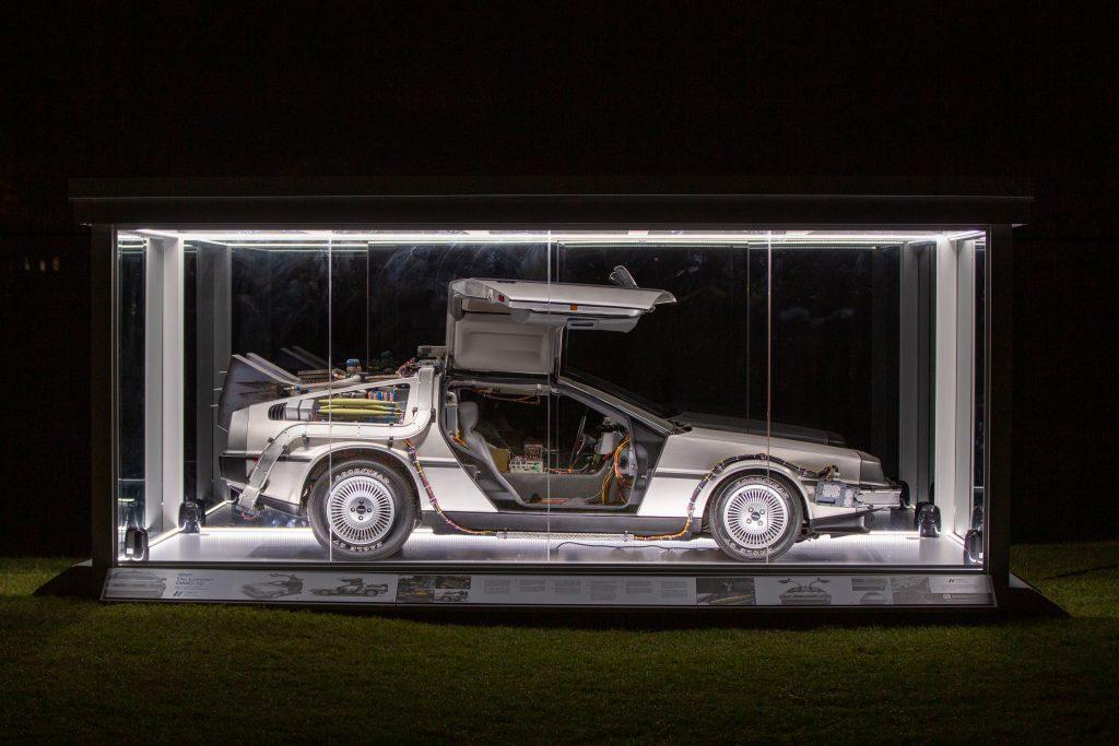 DeLorean in box at Amelia Island Concours