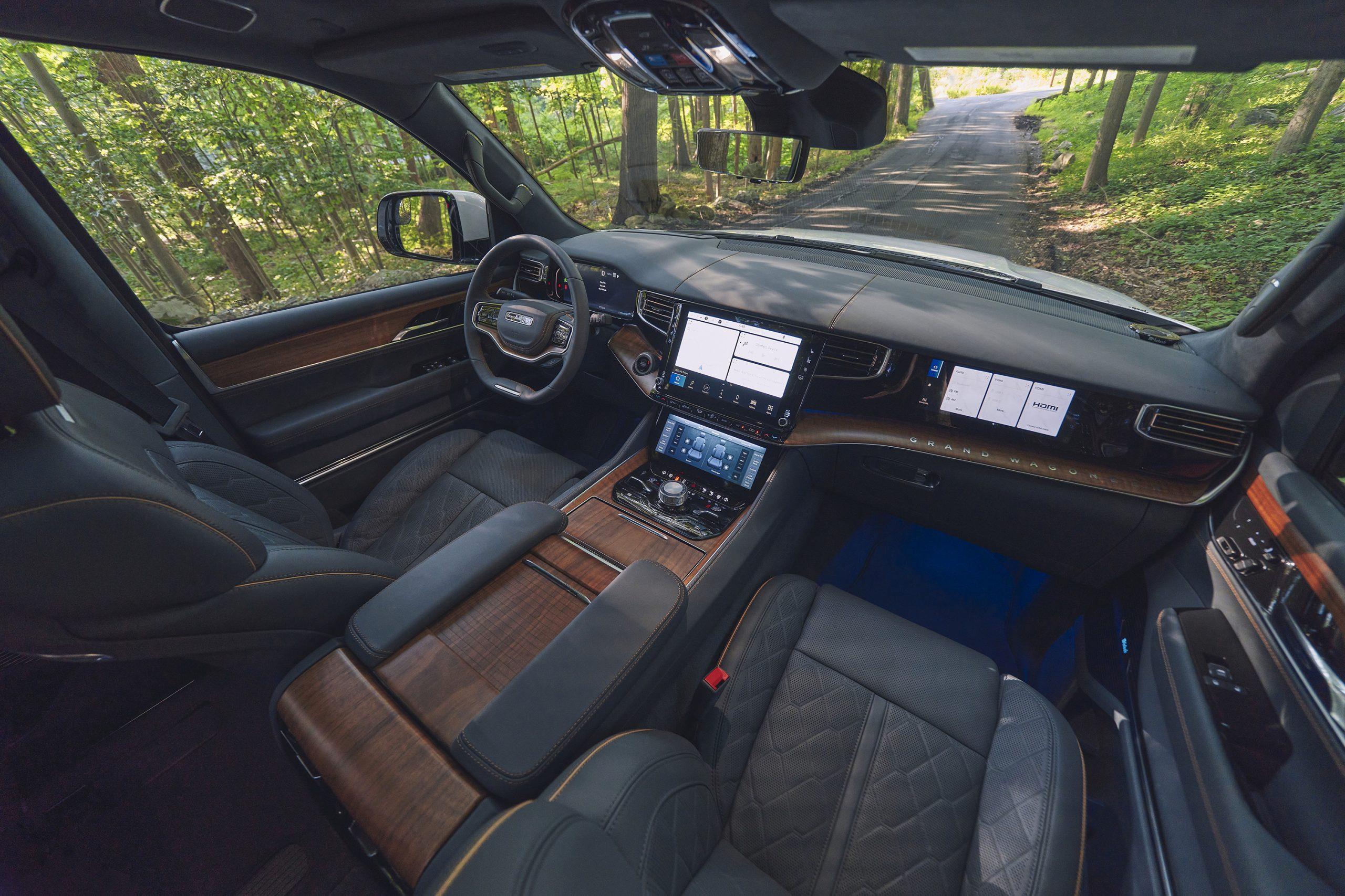 2022 Grand Wagoneer blue agave interior high