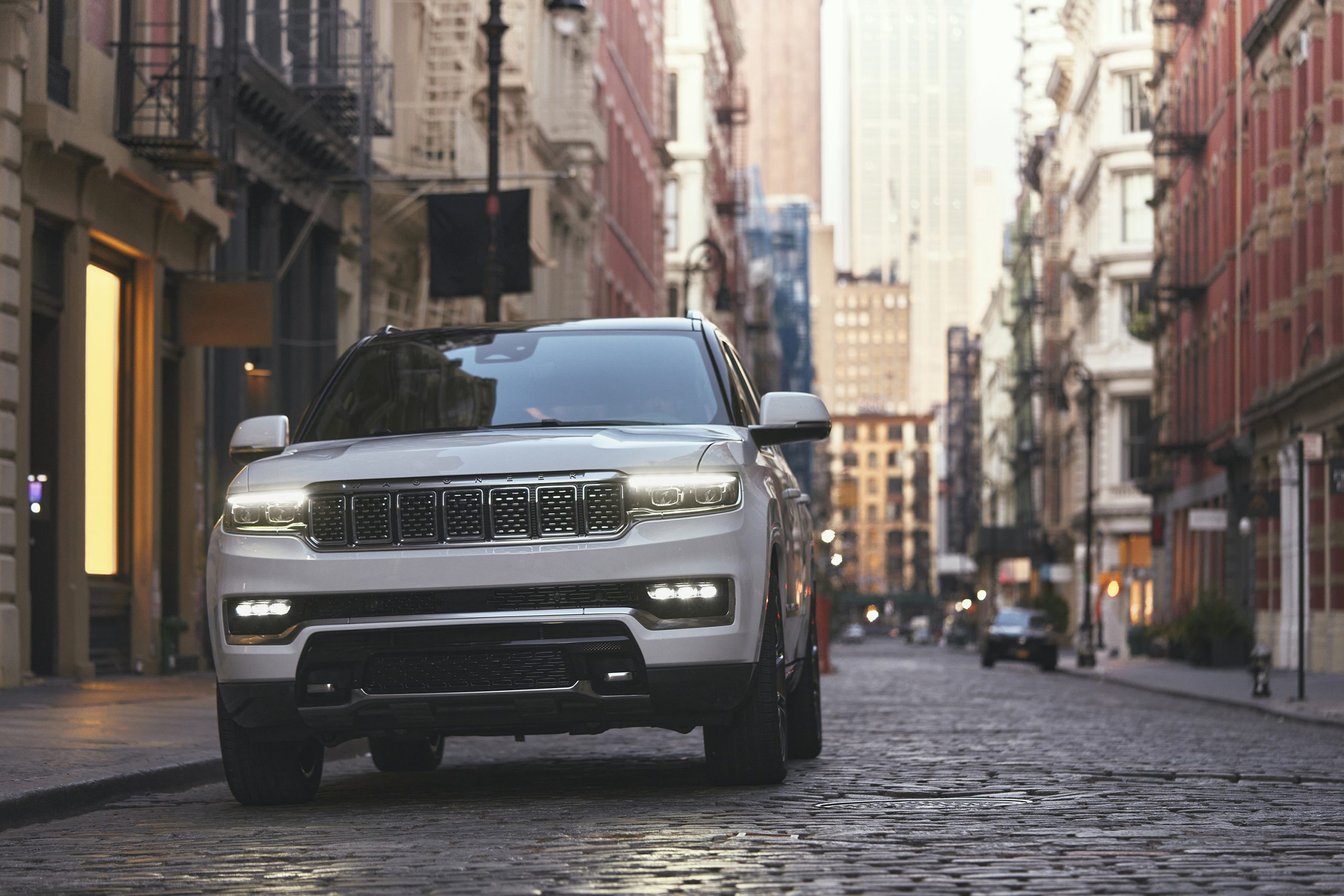 2022 Grand Wagoneer city scape front end