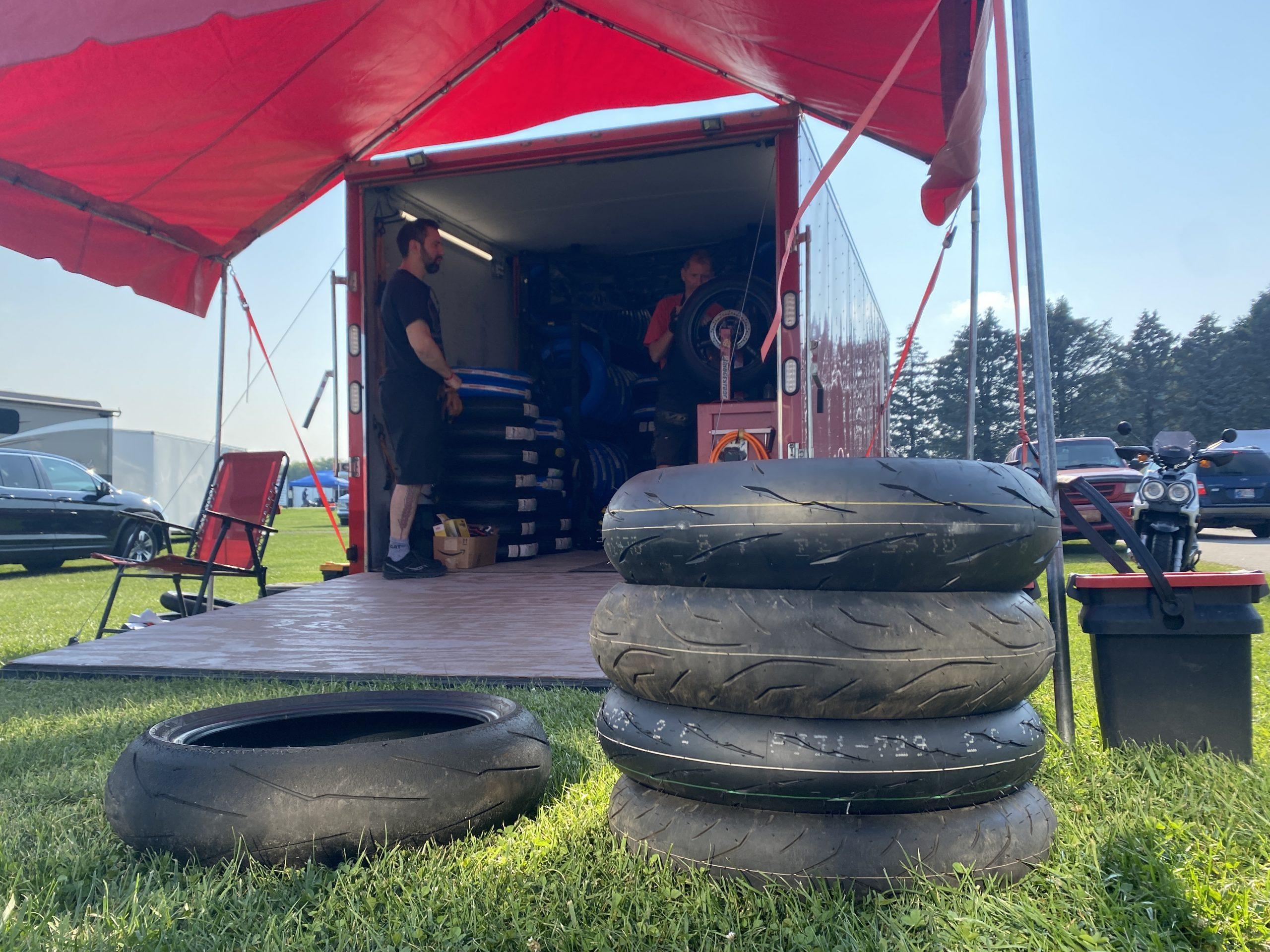 Fresh tires for XR250R