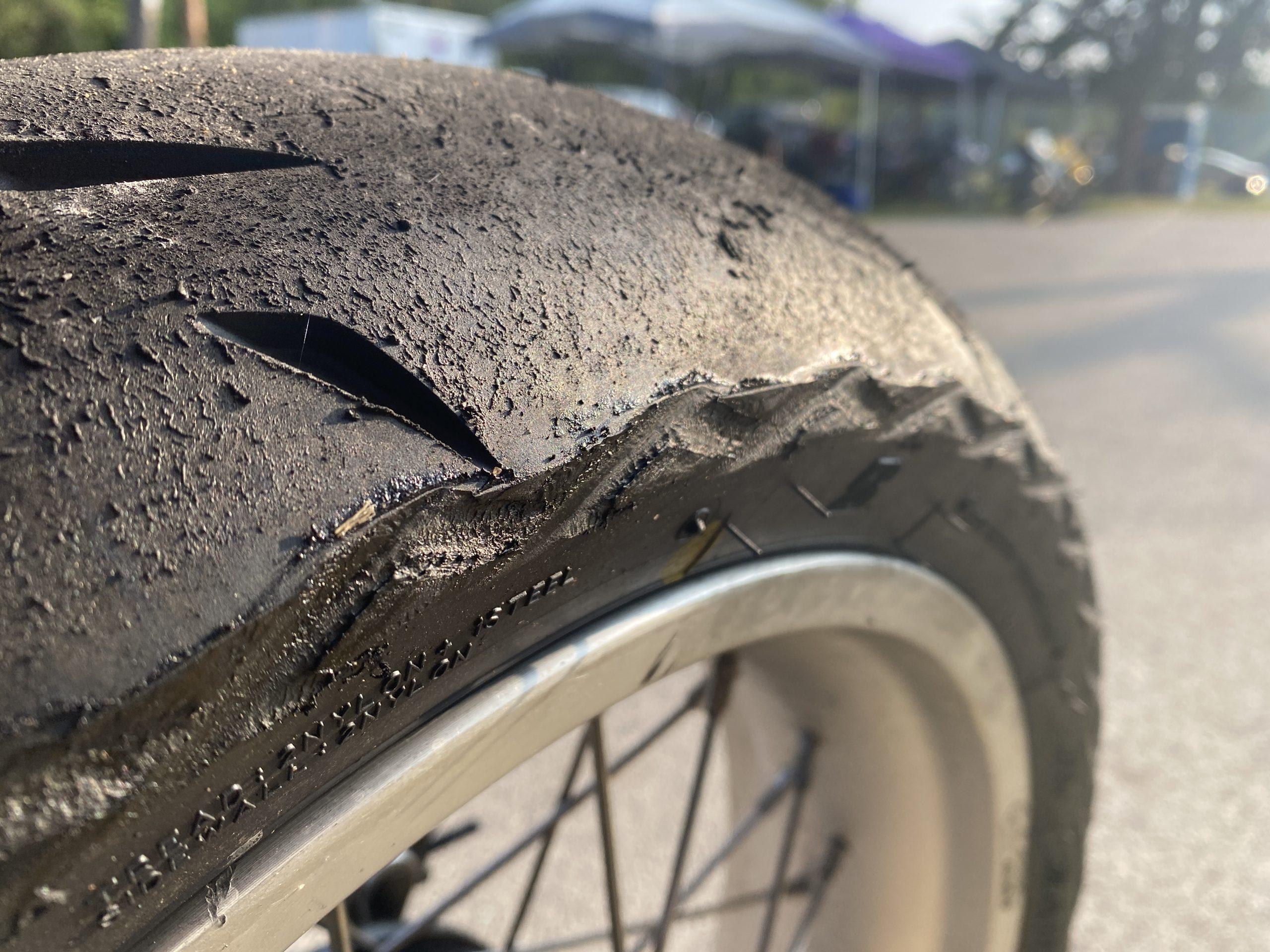 motorbike tire wear