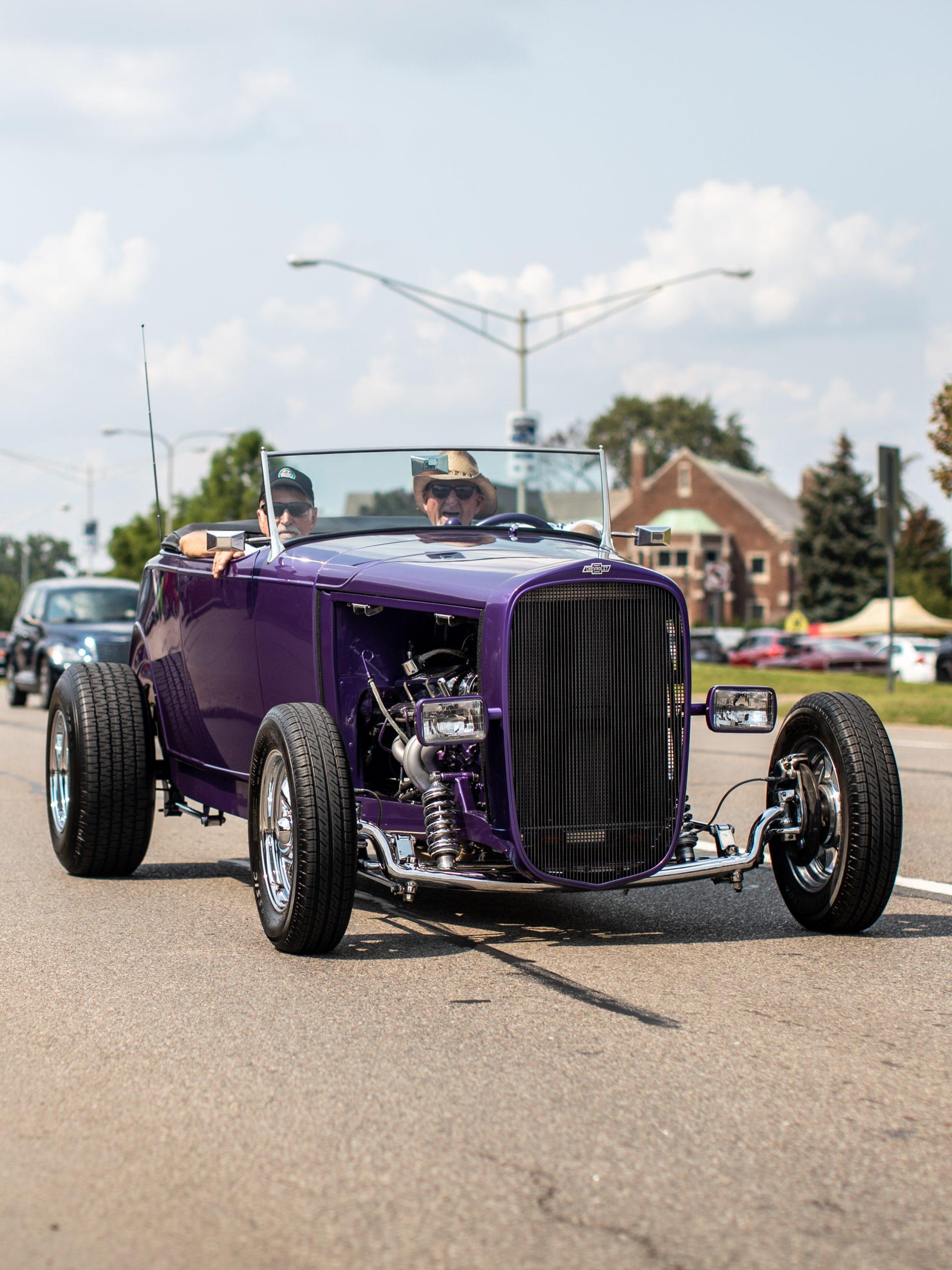 2021 Dream Cruise purple hot rod