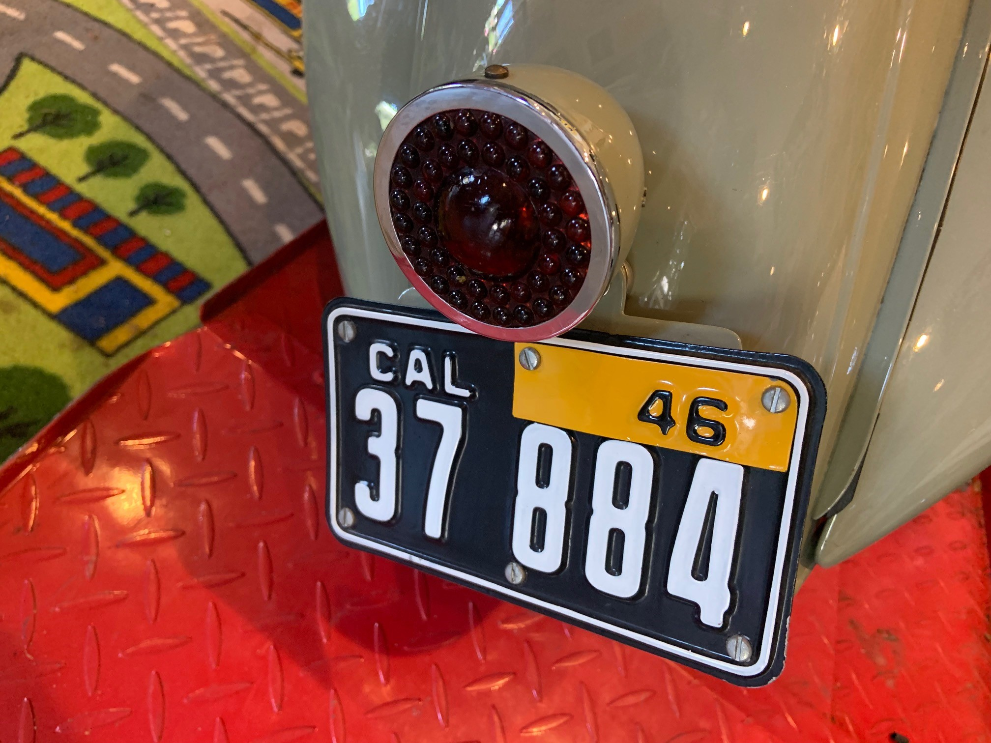 Josh Rogers - 1946 Vespa 90 - license tag