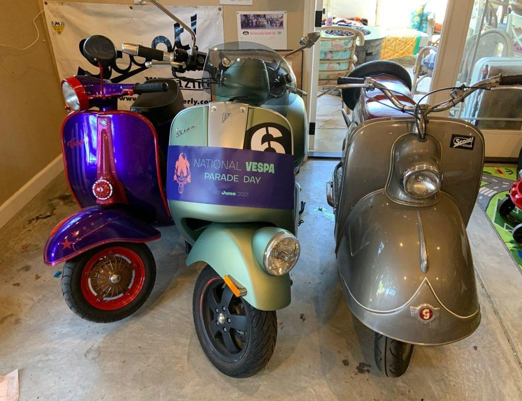 Josh Rogers - 1974 Vespa - 2017 Vespa - 1955 Goggo Roller 200cc