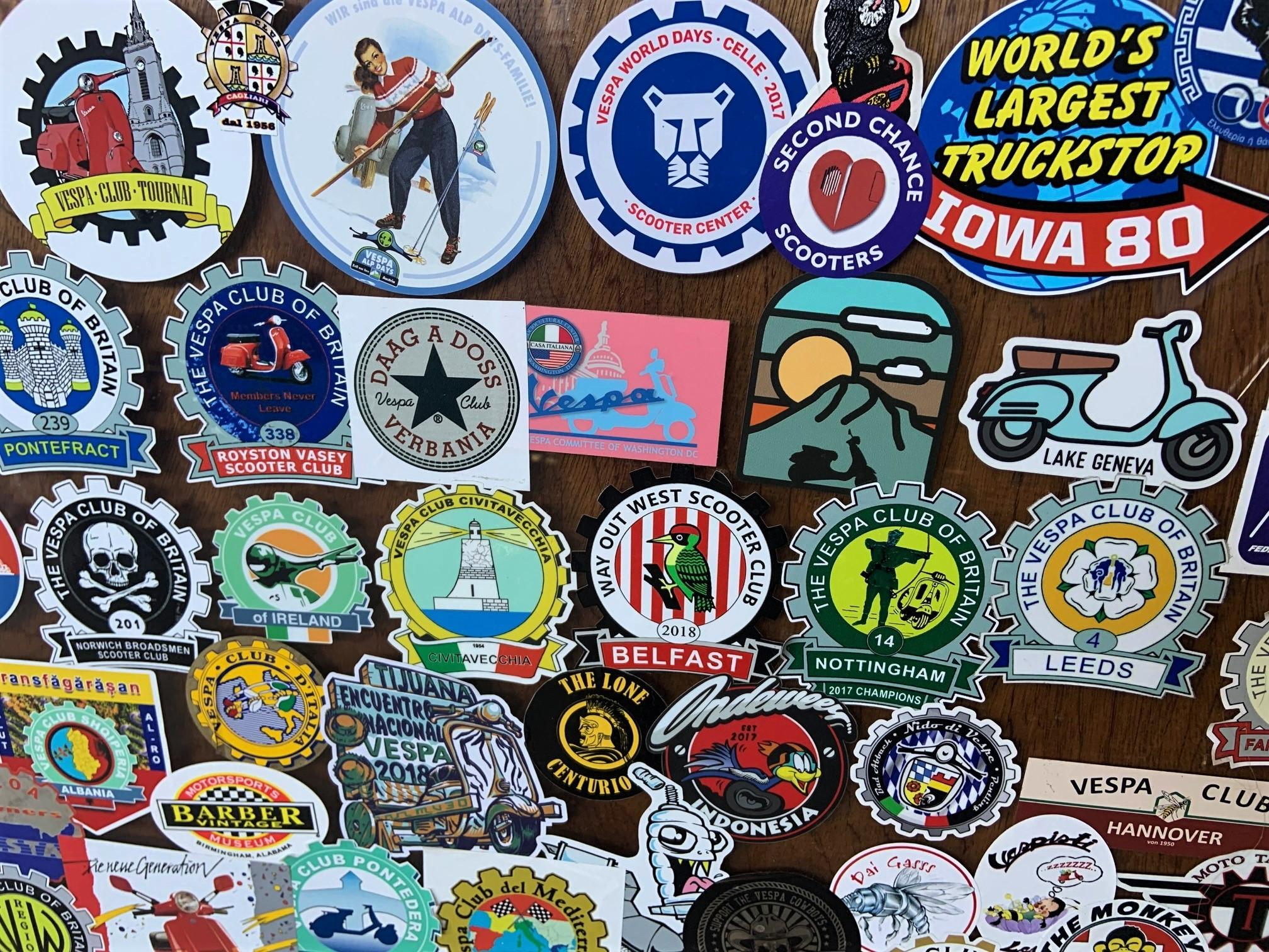 Josh Rogers - Vespa stickers