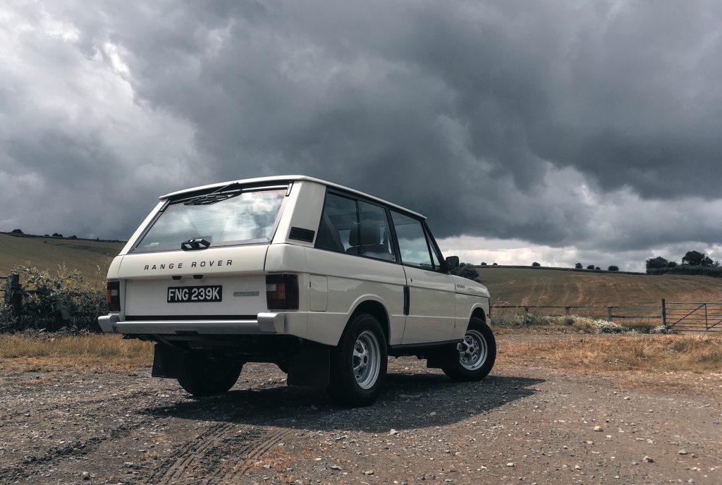 Range Rover Restomod rear three-quarter
