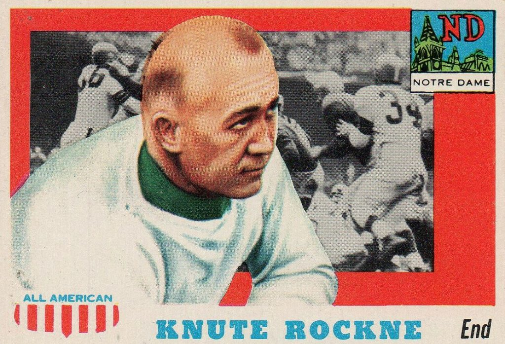 Knute Rockne - 1955 Topps All-American card