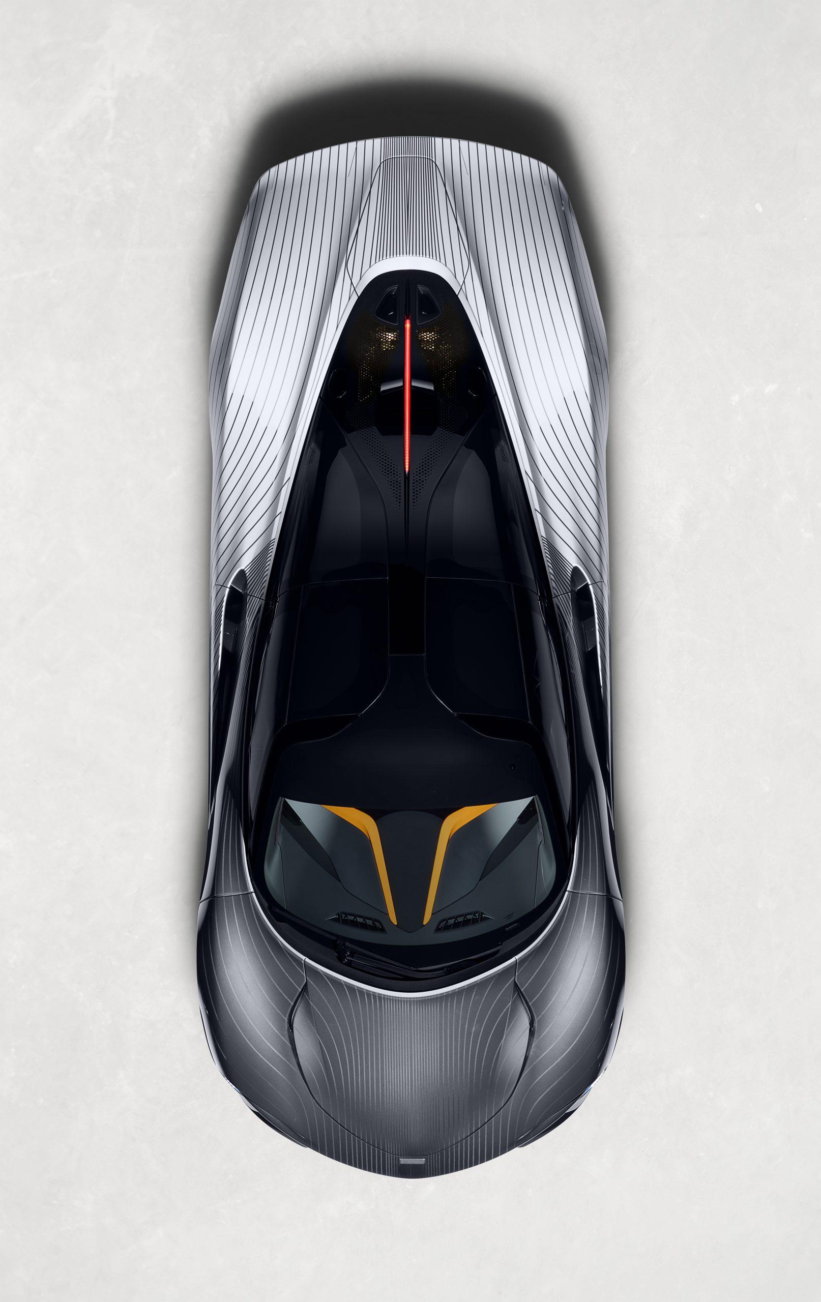 McLaren MSO Albert Speedtail overhead