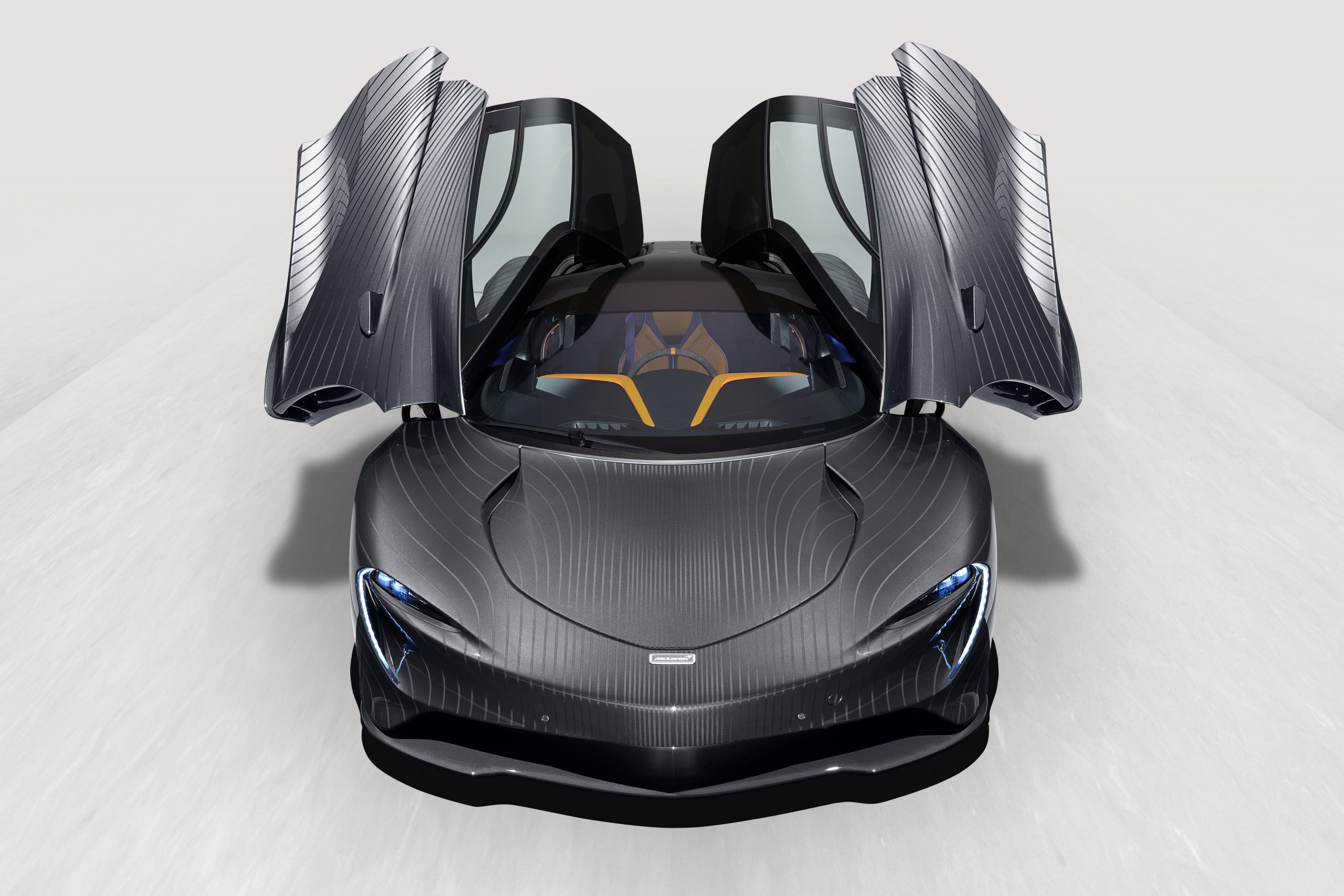 McLaren MSO Albert Speedtail doors up