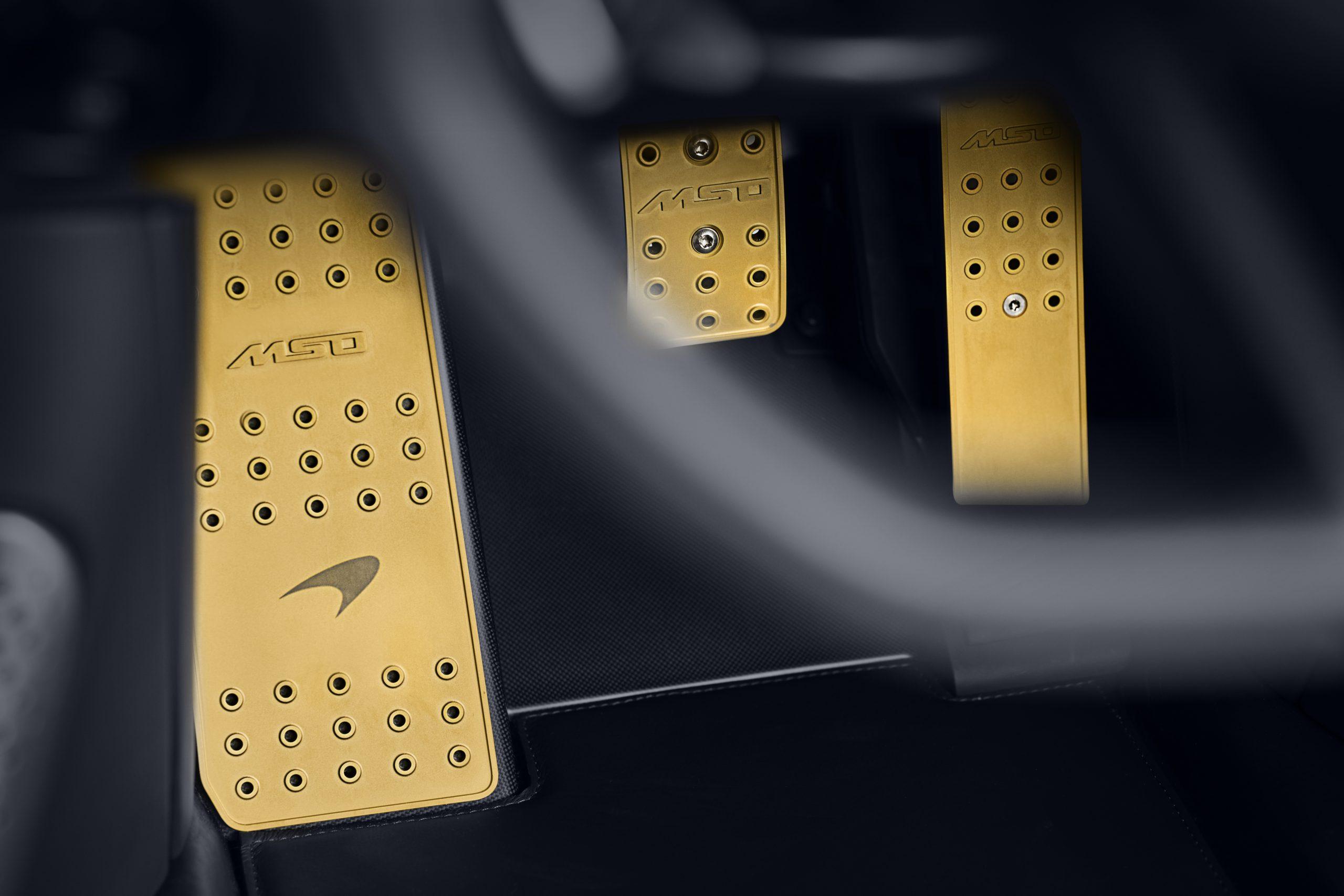 McLaren MSO Albert Speedtail pedals