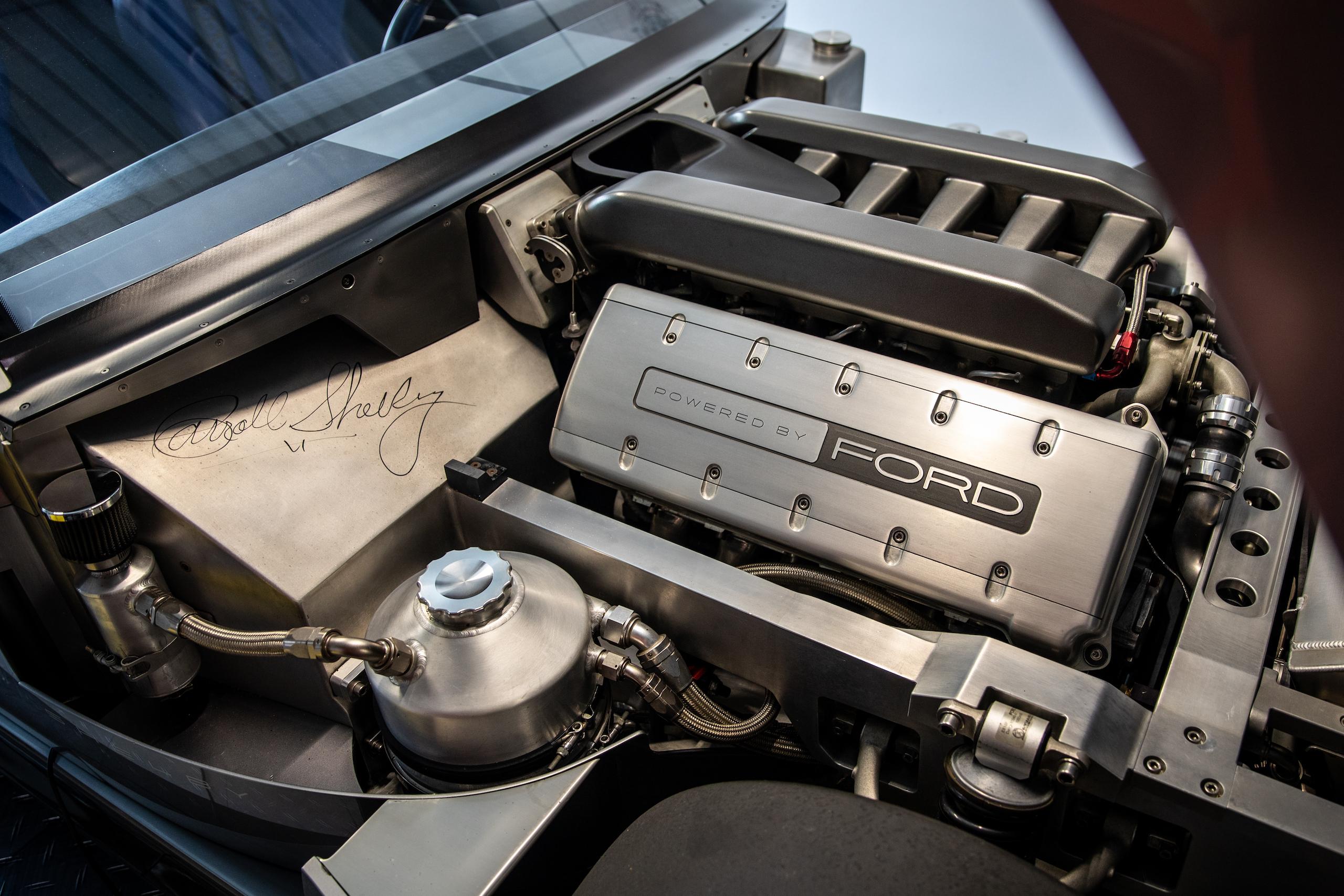 Cobra Concept engine bay shelby signature