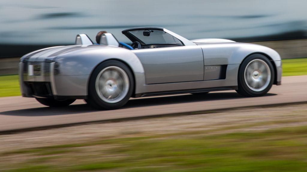 Cobra Concept driving action rear three-quarter