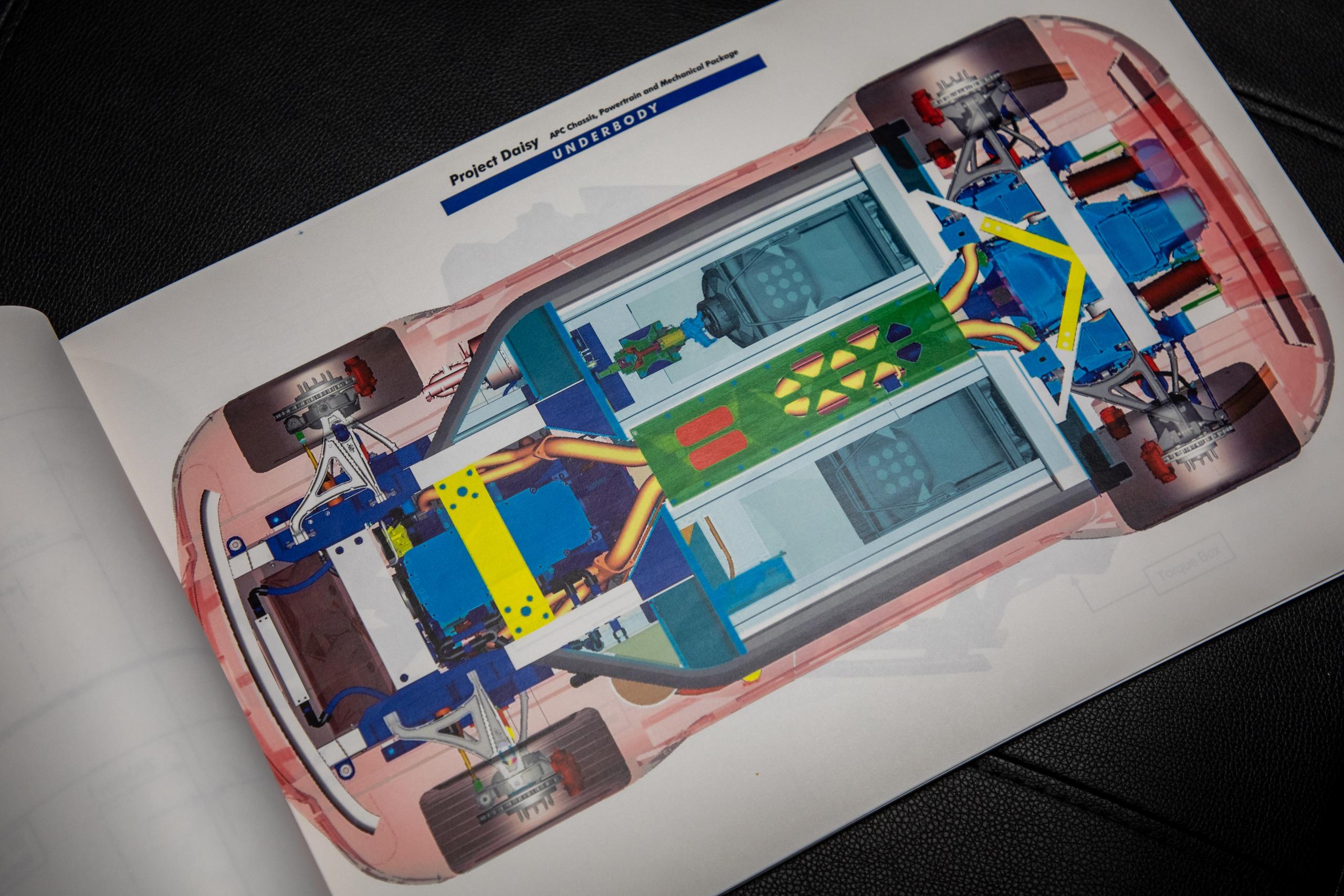 Cobra Concept underbody schematic drawing