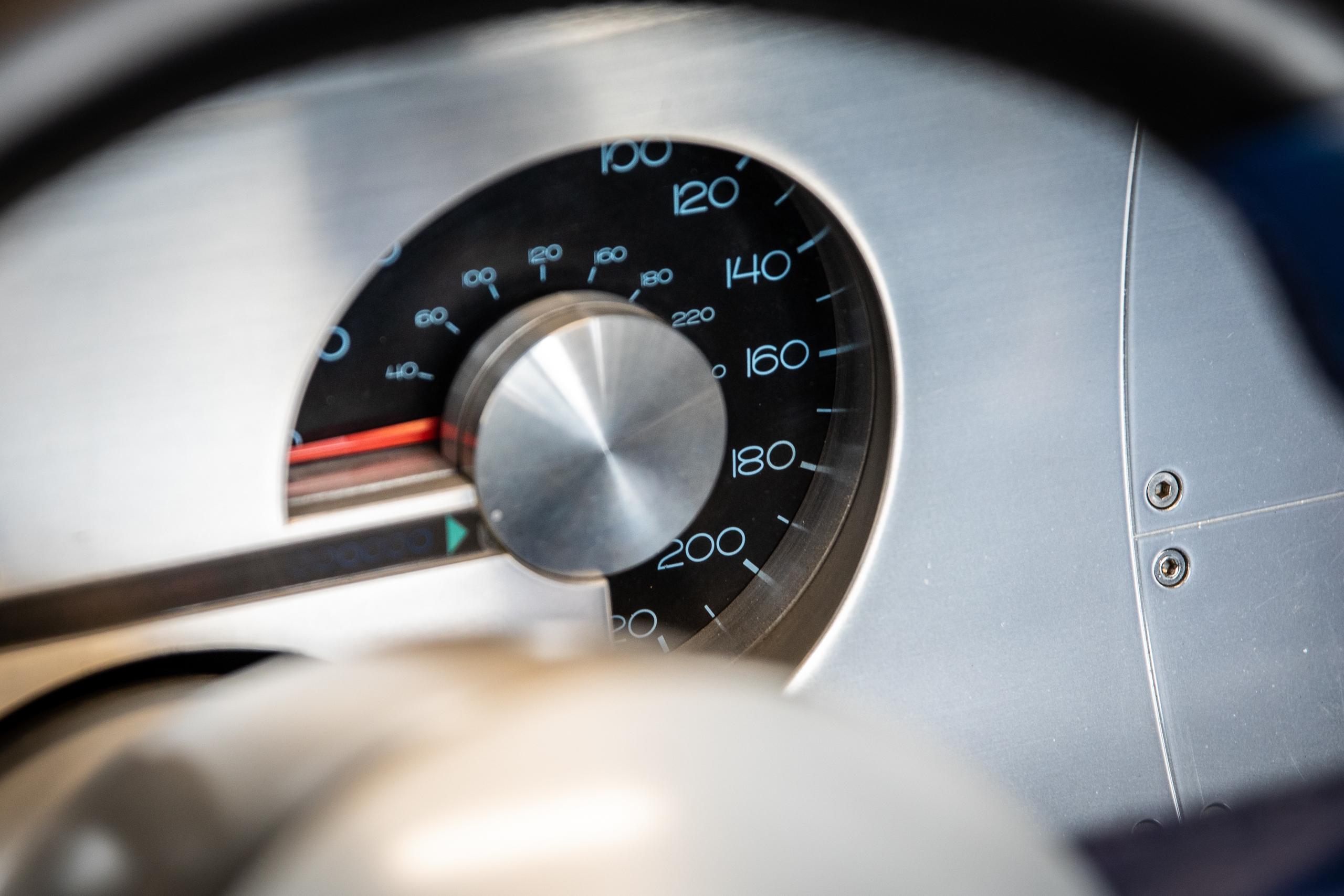 Cobra Concept speedometer gauge detail