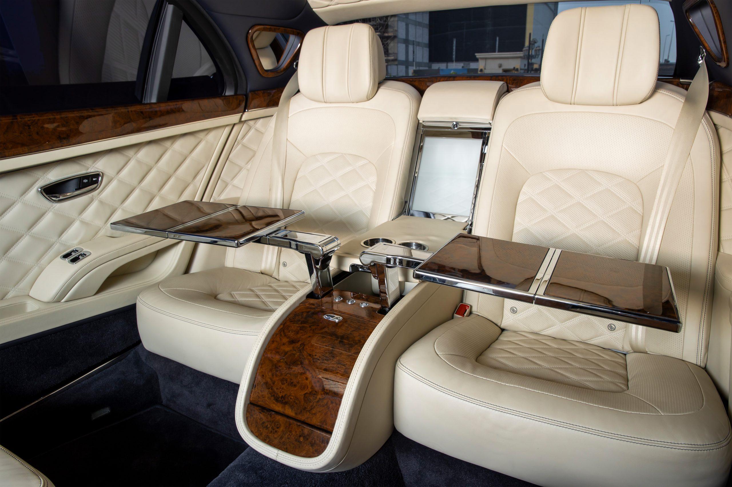 Mulsanne Grand Limousine interior rear seat