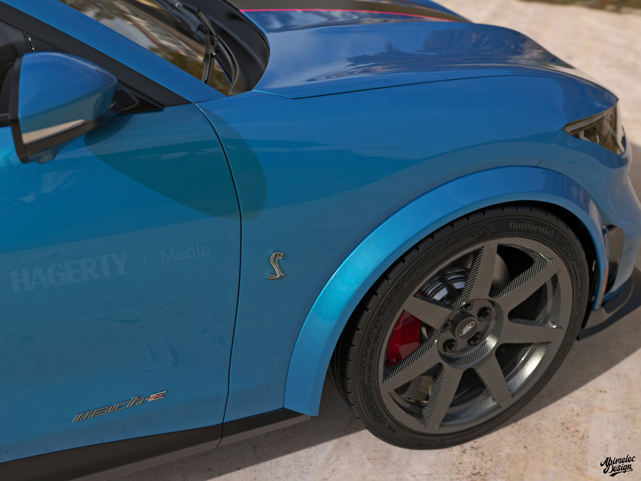 Shelby GTE front quarter panel wheel tire