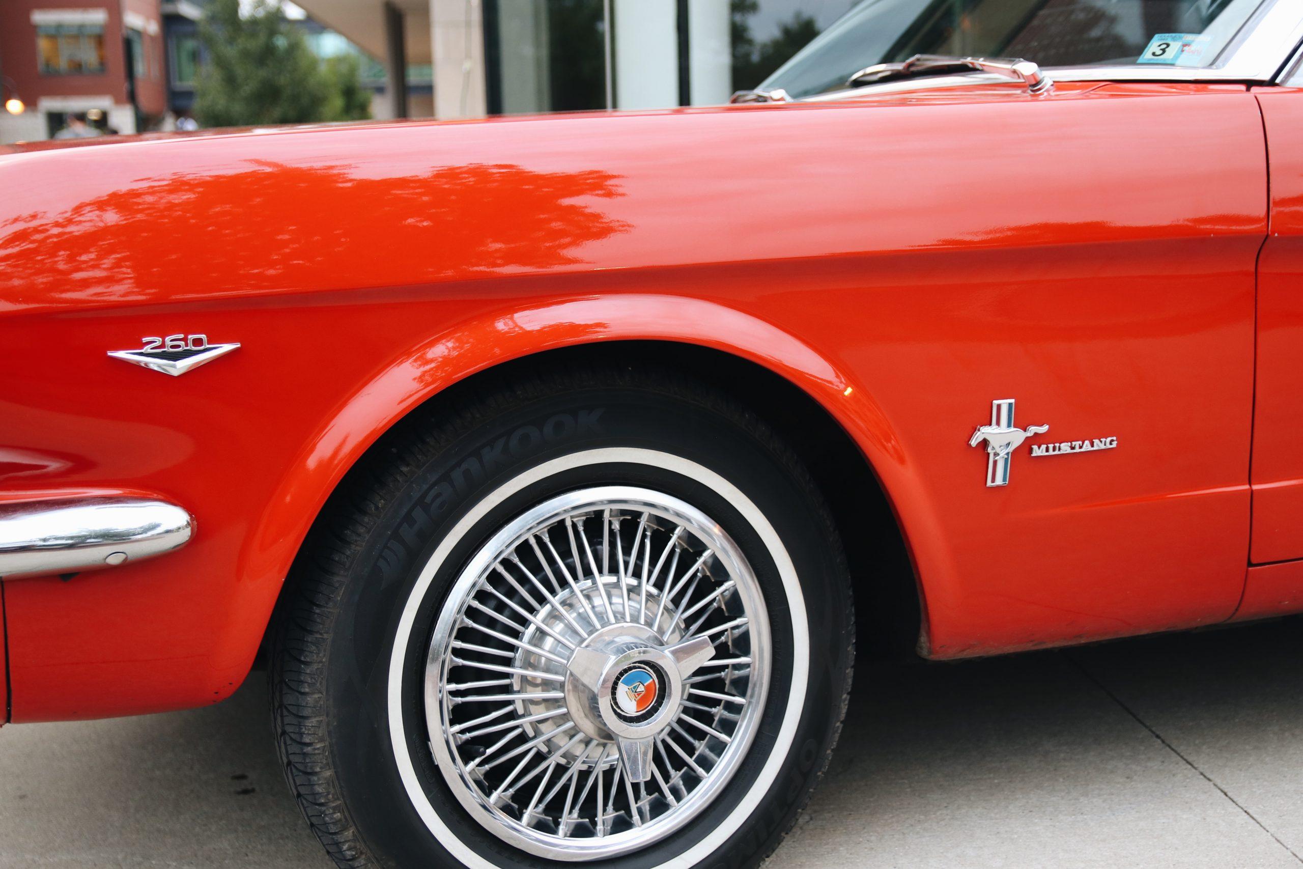 Mel Heppe Mustang front quarter panel