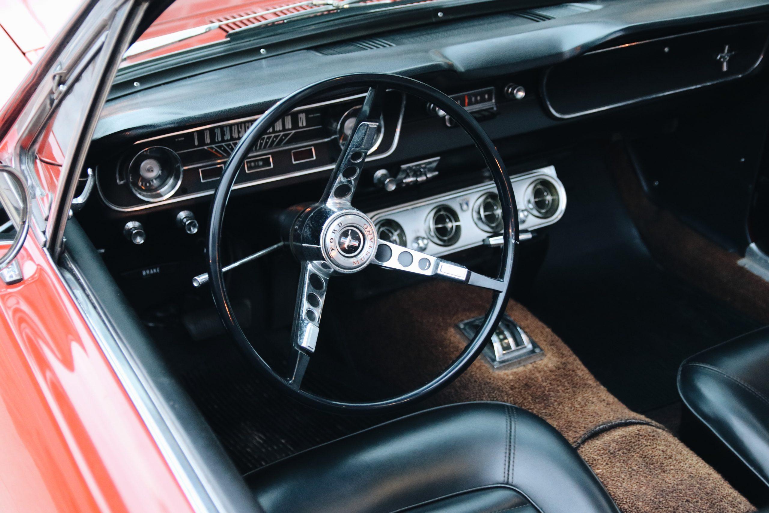 Mel Heppe Mustang interior