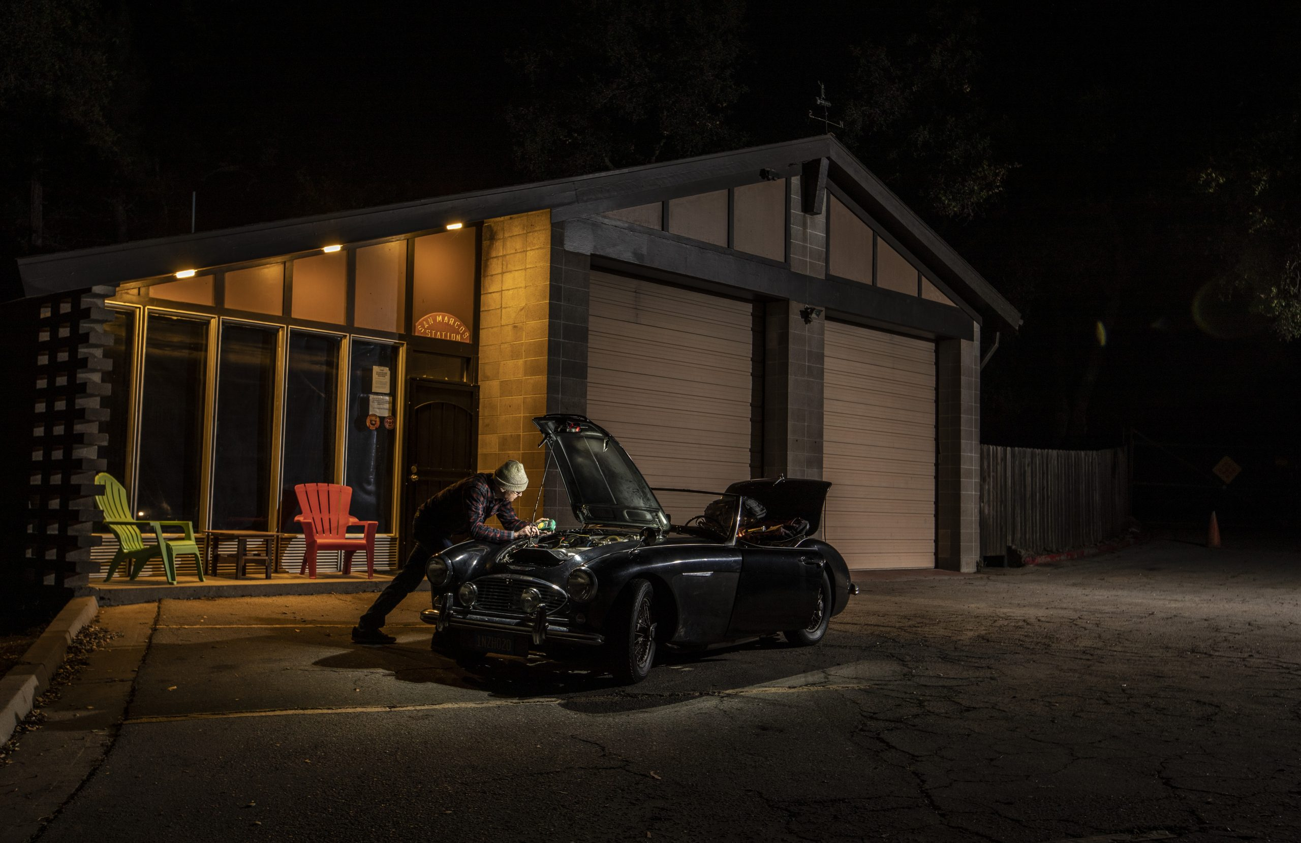 Austin-Healey night repair