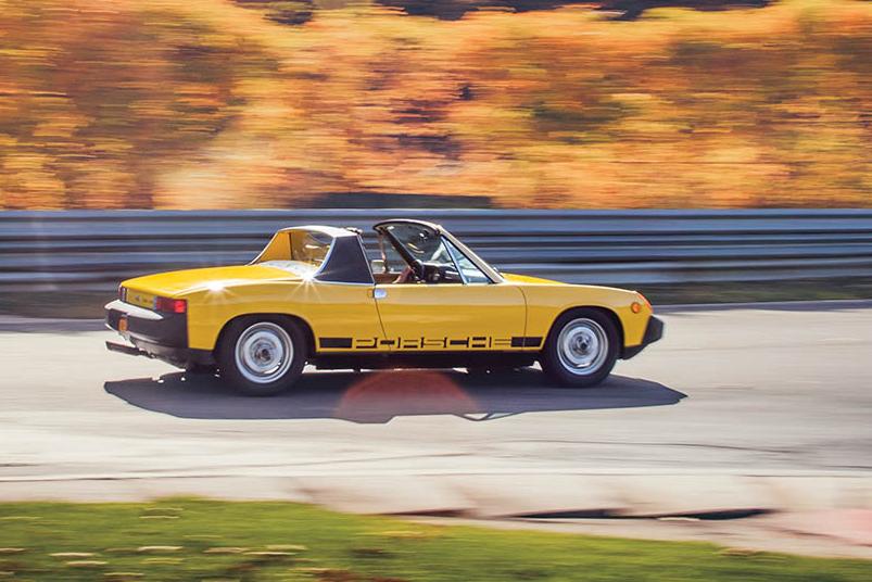 Porsche 914 action