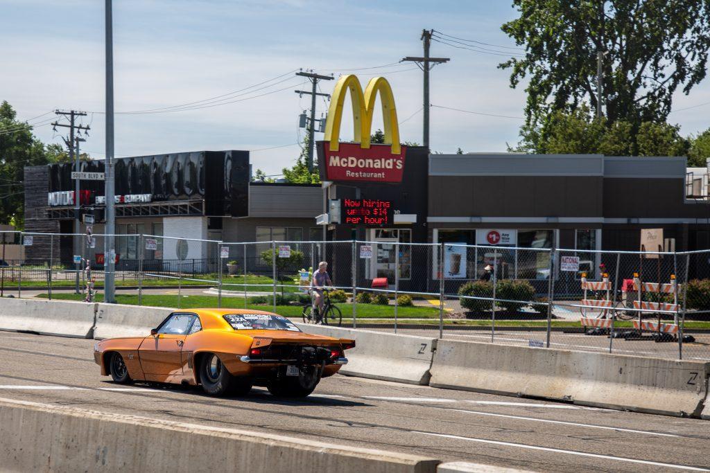1969 Chevrolet Camaro Tom Bailey orange McDonald's Woodward Roadkill Nights 2021