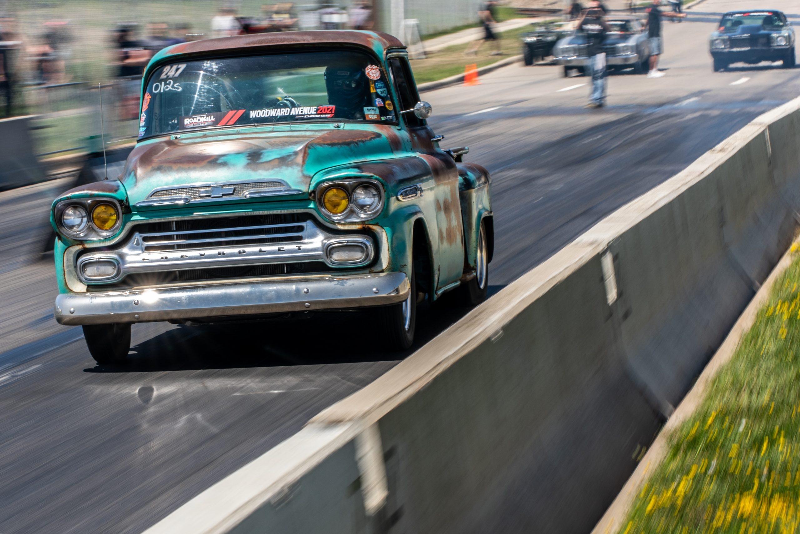 Roadkill Nights 2021 Chevrolet truck drag race