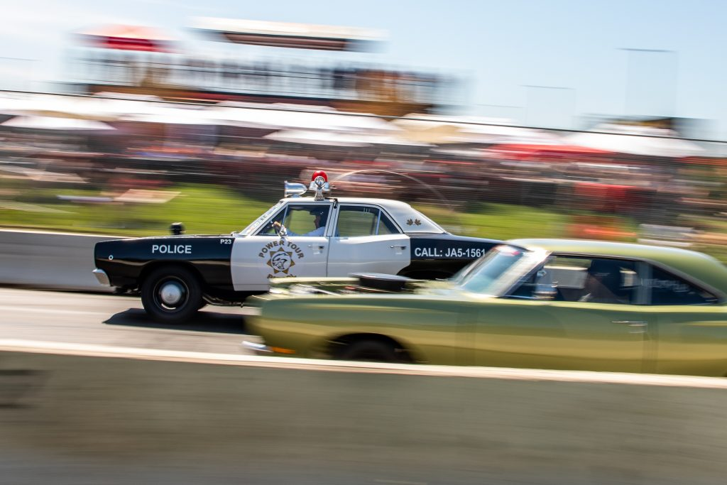 Roadkill Nights 2021 cop car drag race