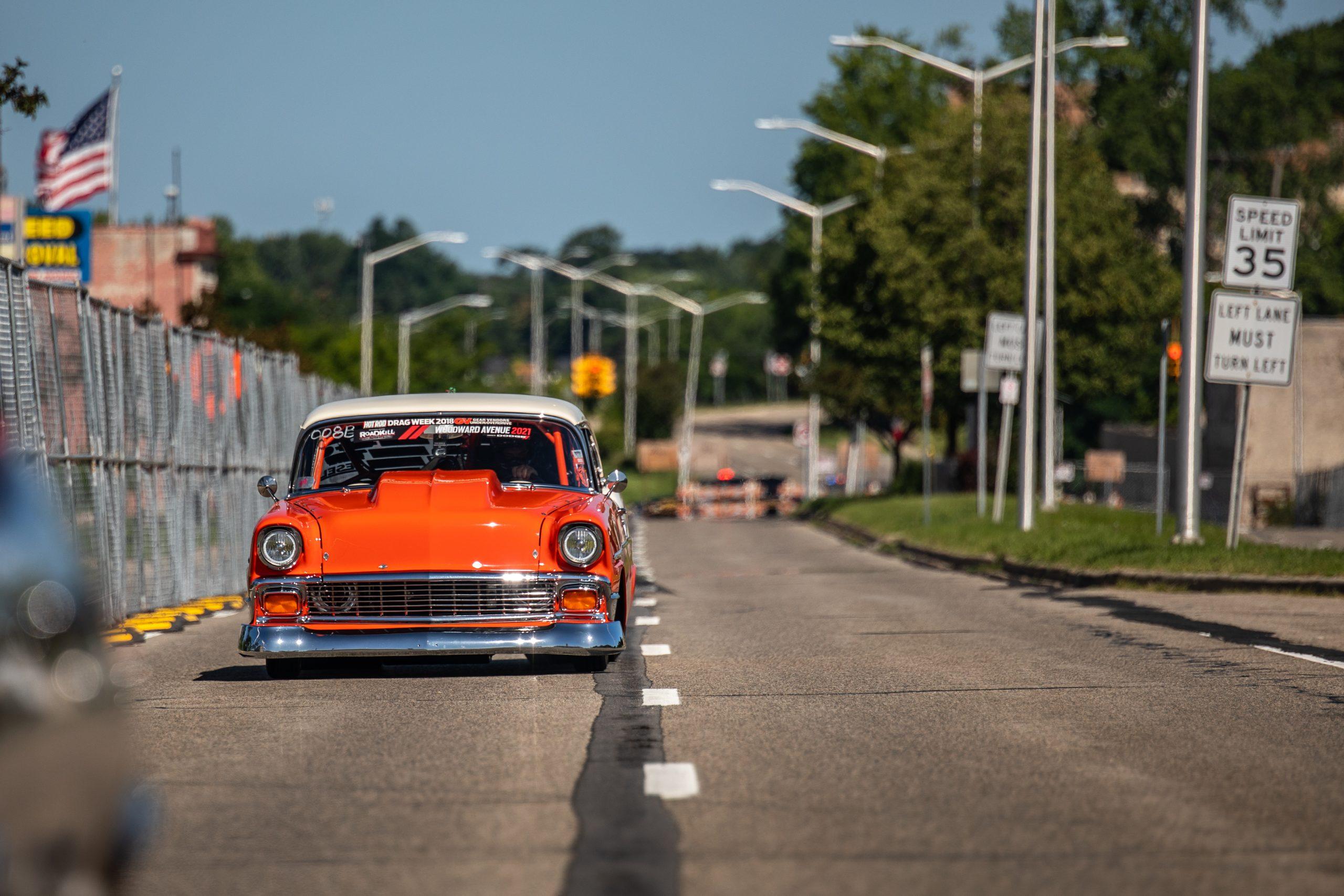 Roadkill Nights 2021 Chevrolet orange wagon