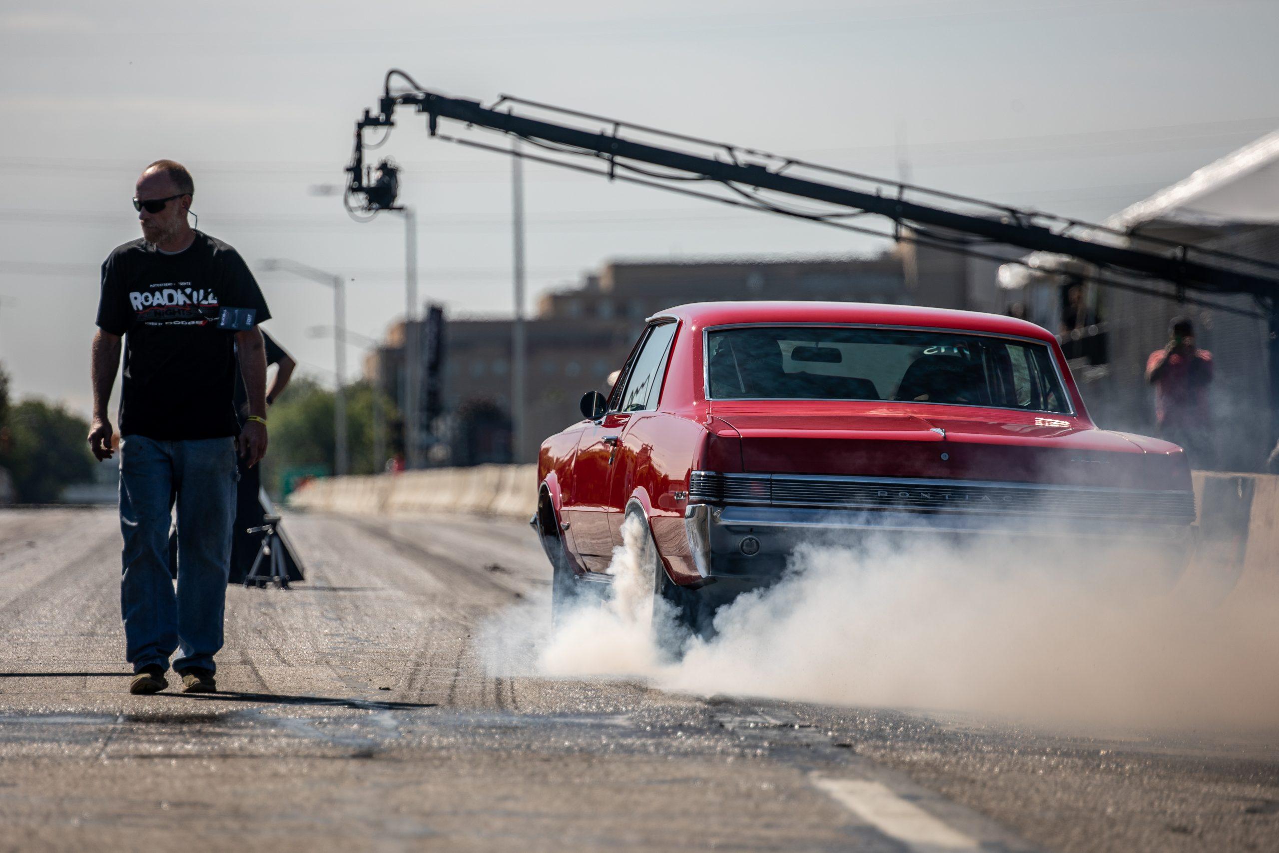 Roadkill Nights 2021 Pontiac burnout