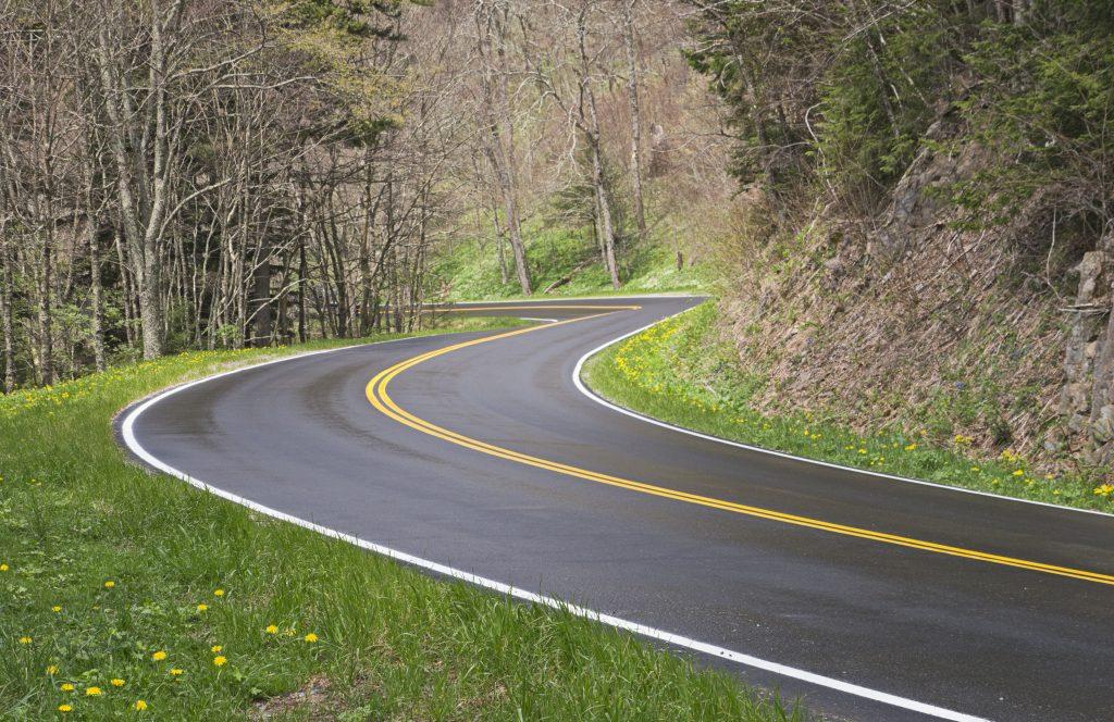 Smoky Mountain Road Curve