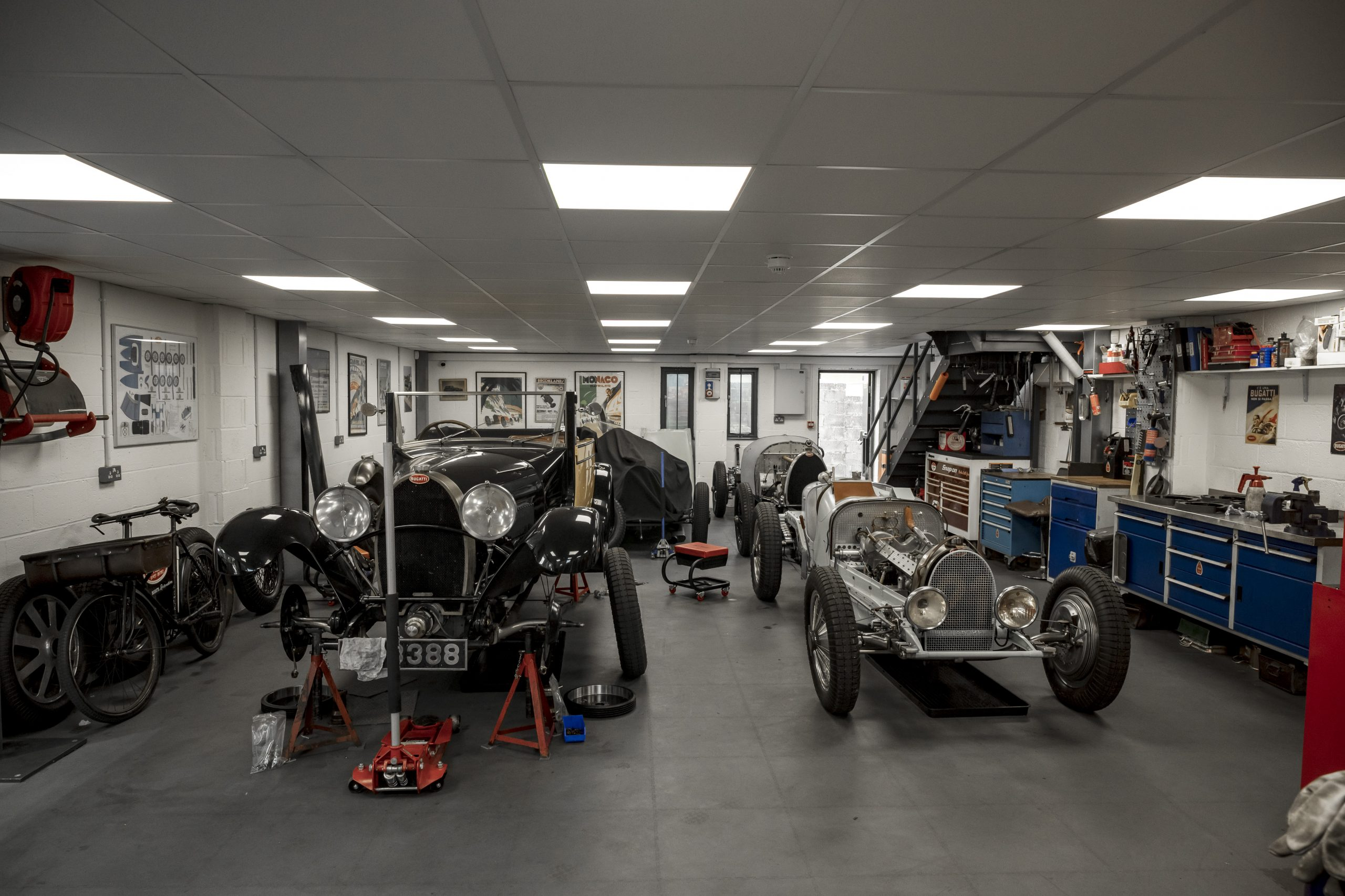 Tula Precision bugatti shop interior