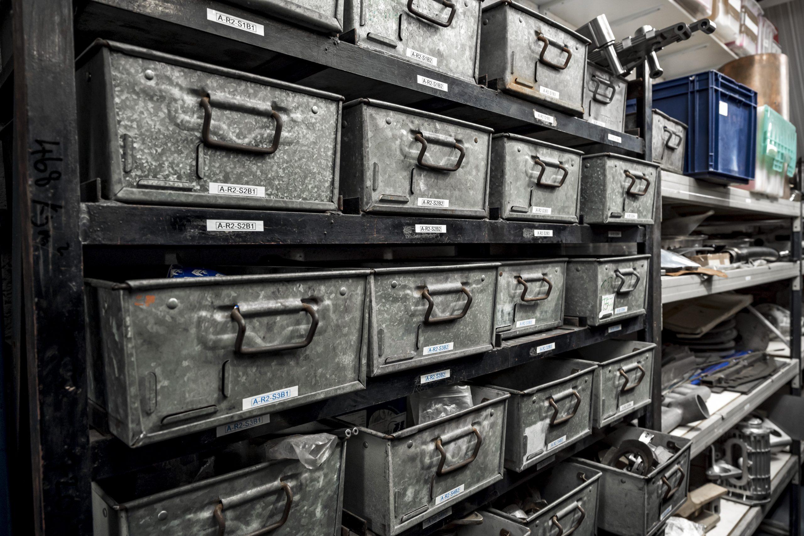 Tula Precision parts bins