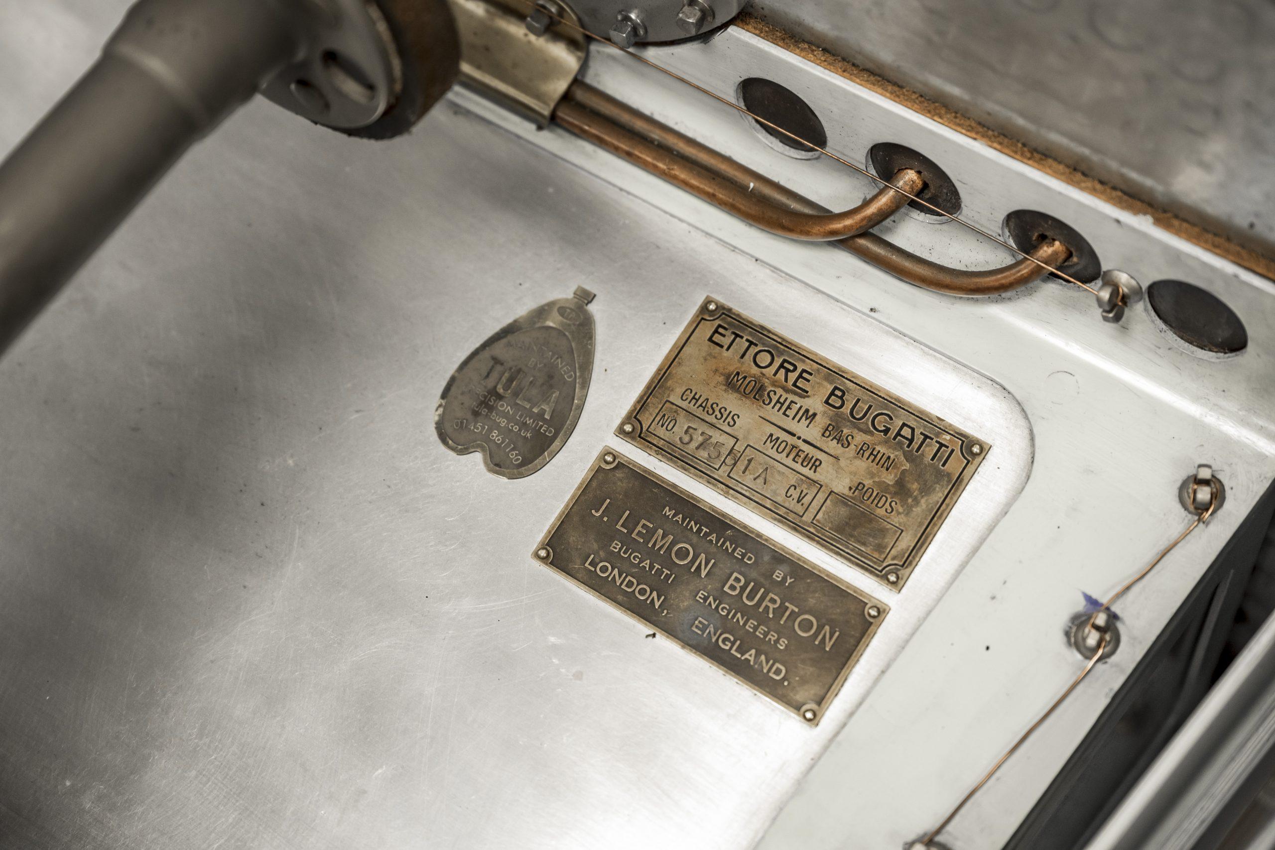 Tula Precision bugatti info placard detail