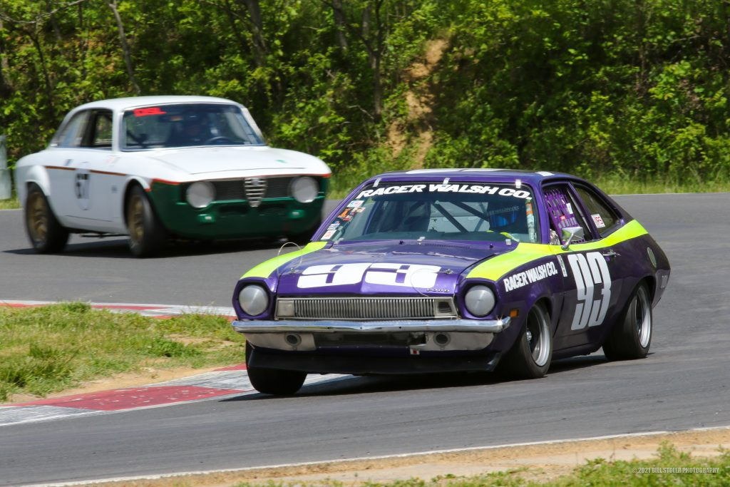 1971 Pinto racing at Thompson Speedway