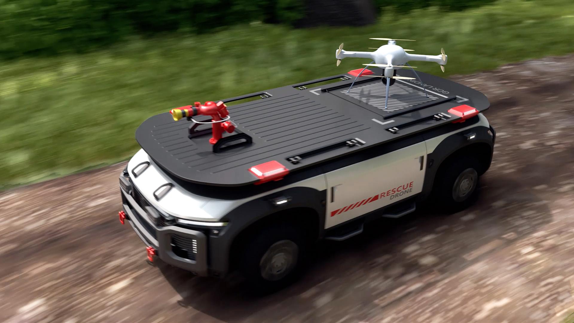 Hyundai hydrogen Rescue Drone