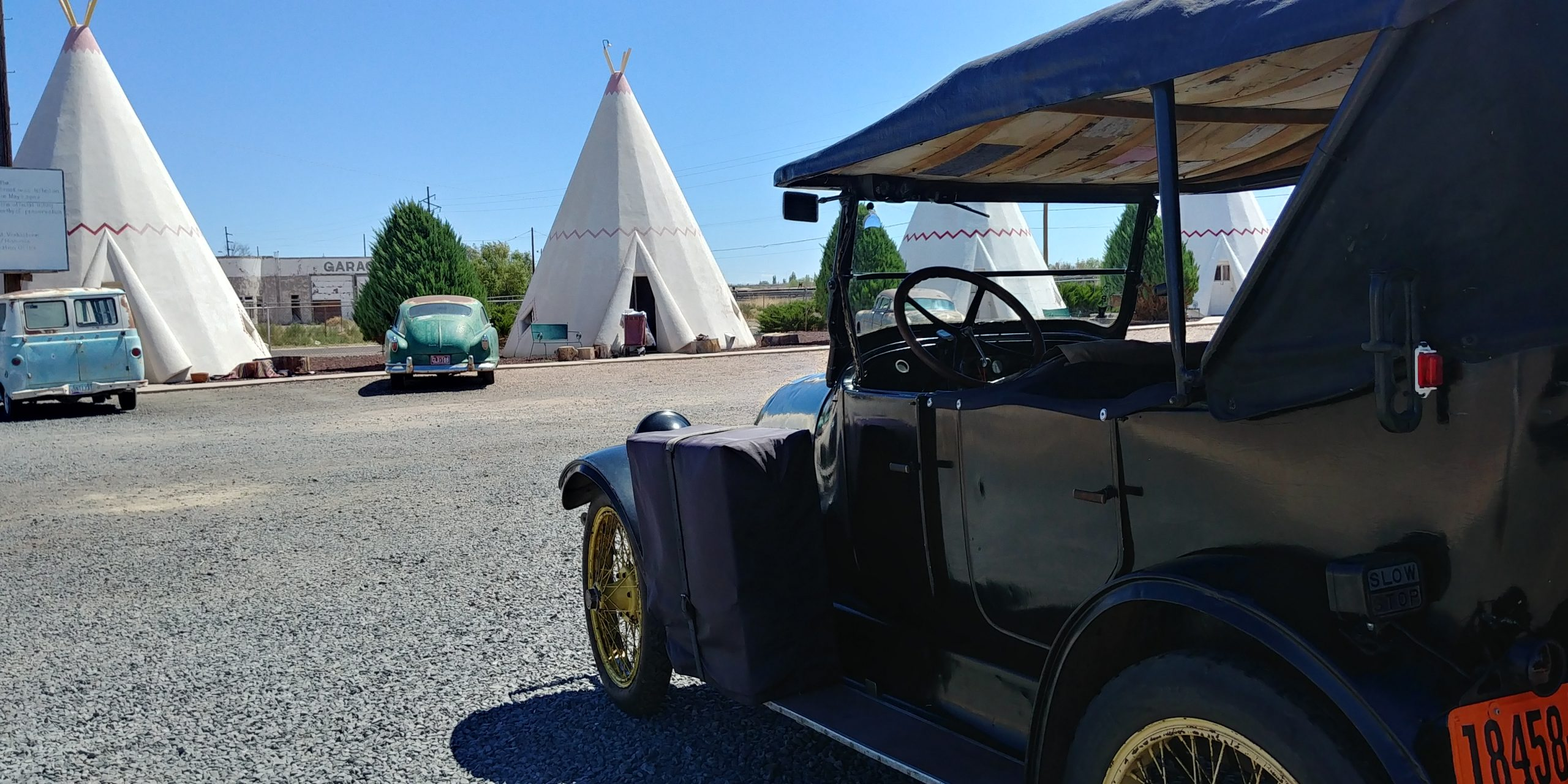 1919 Franklin teepees route 66