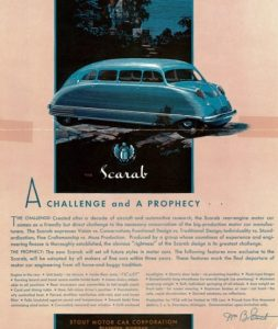 1935-36 Stout Scarab ad