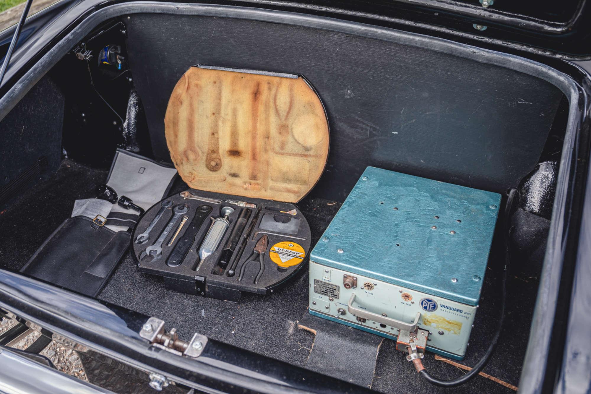 1961 Daimler SP250 Ex Metro Police trunk tools