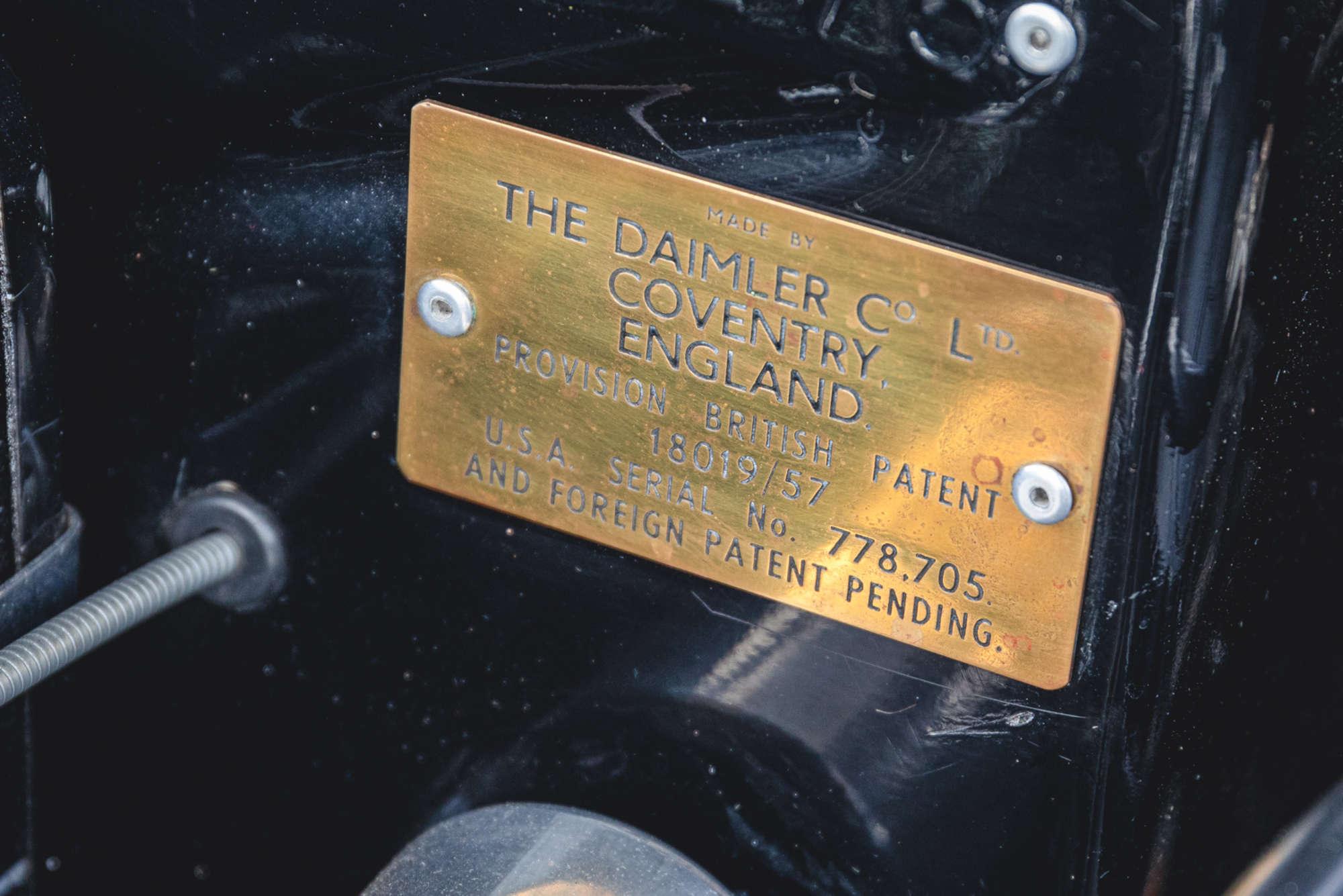 1961 Daimler SP250 Ex Metro Police info