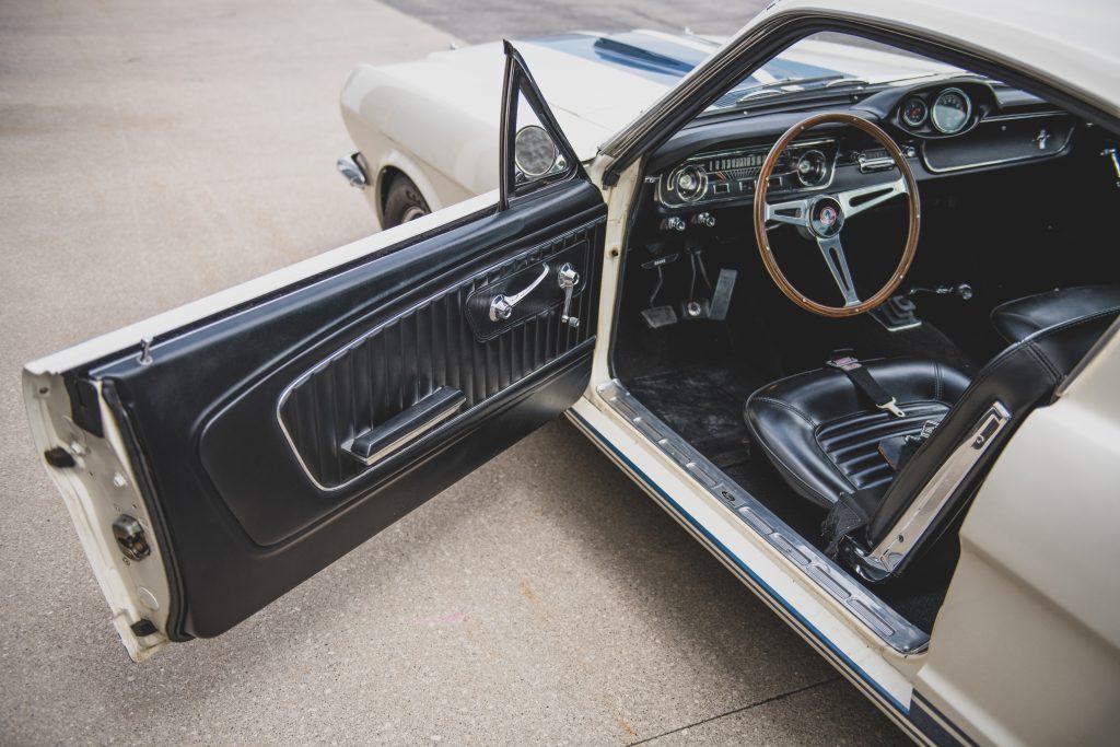 1965 Shelby GT350 open door interior