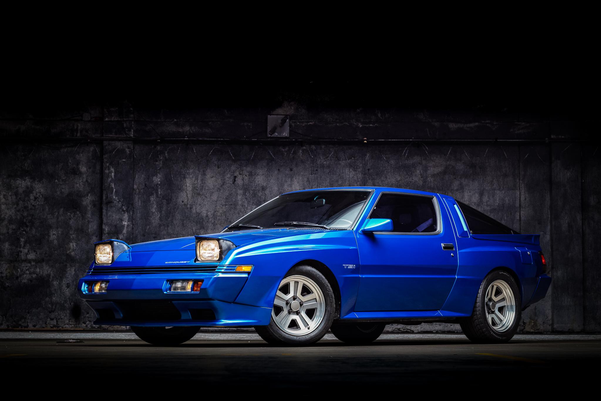 1988 Chrysler Conquest TSi front three-quarter lights