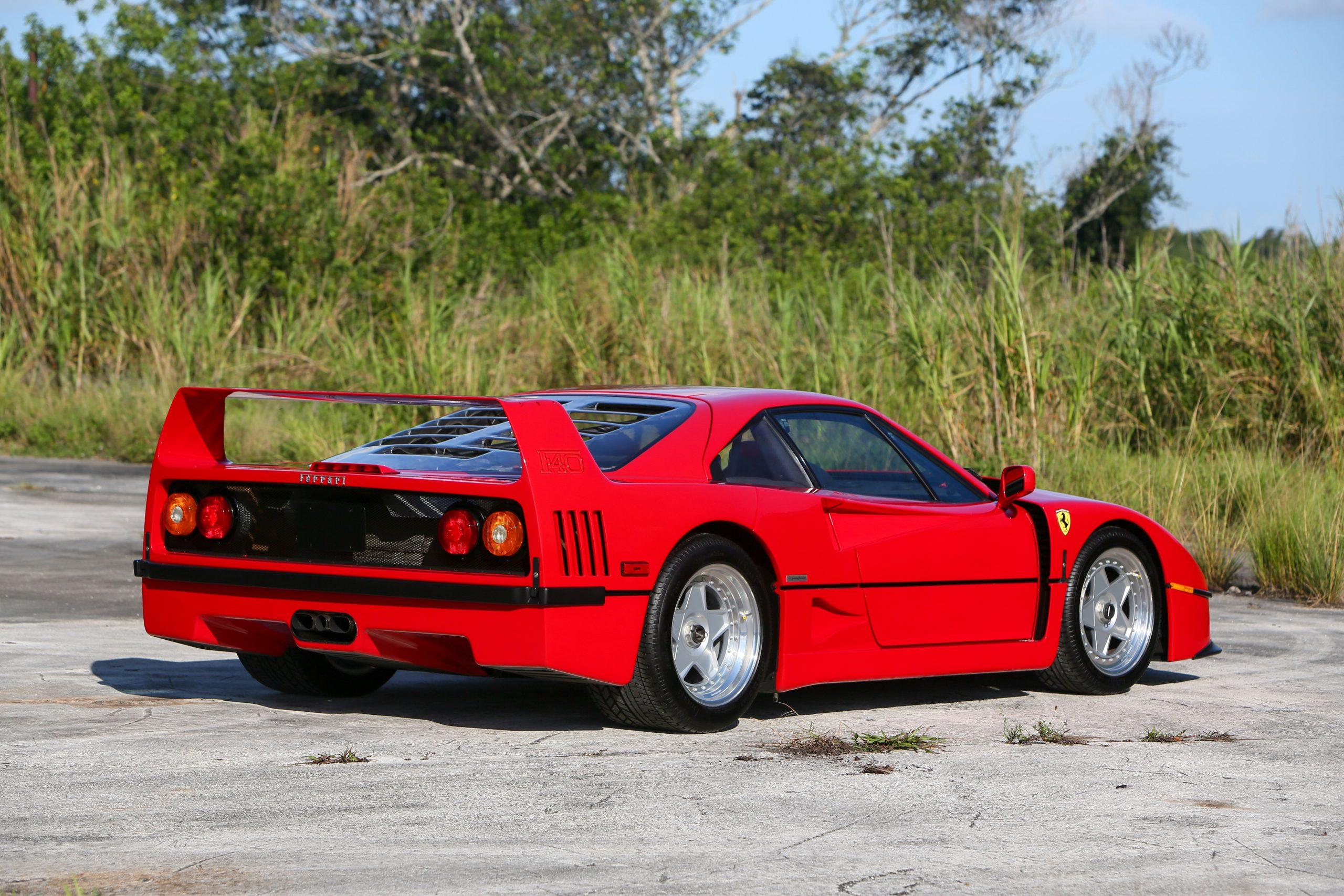 1991 Ferrari F40 rear three-quarter