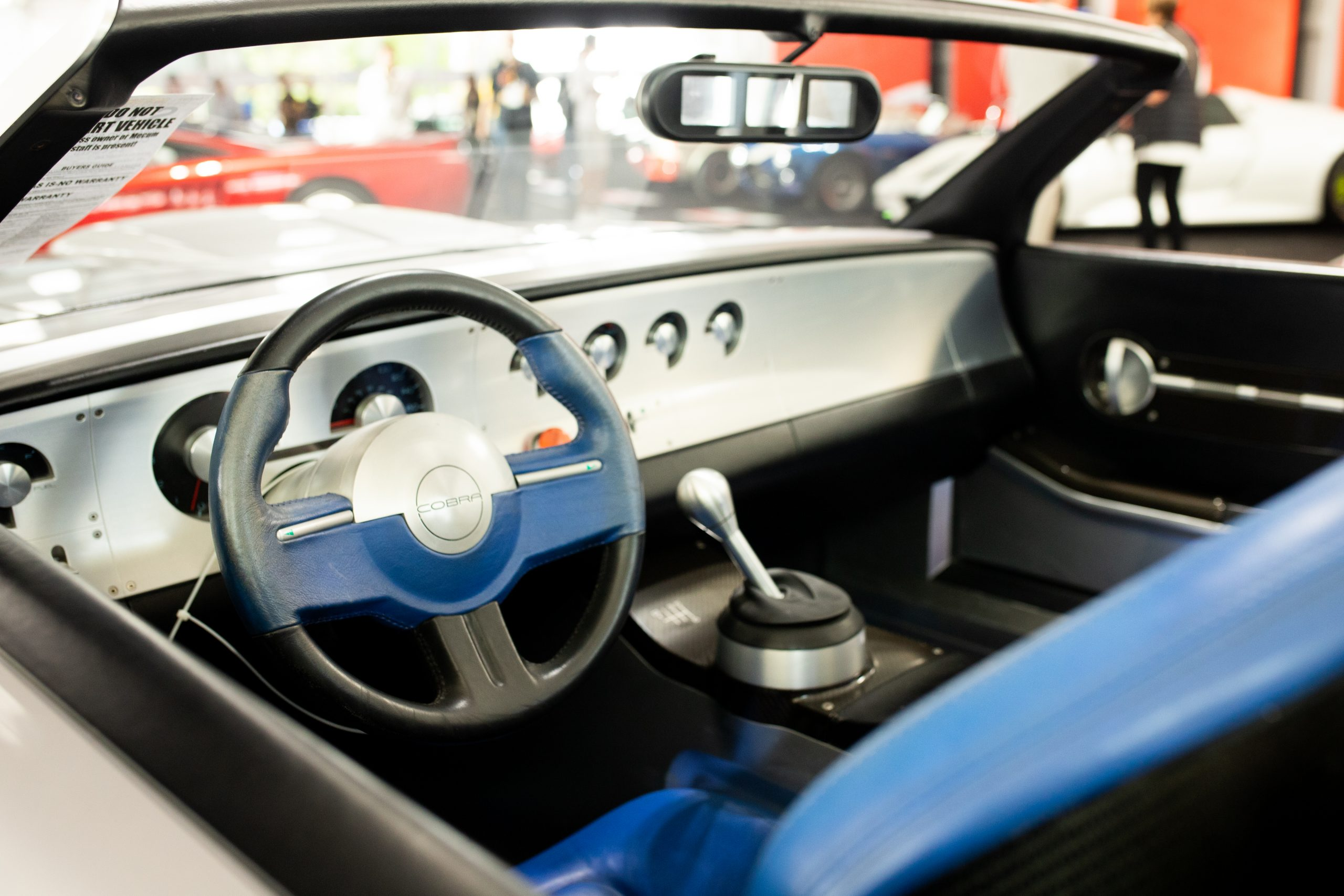 2004 Ford Shelby Cobra concept interior monterey auction
