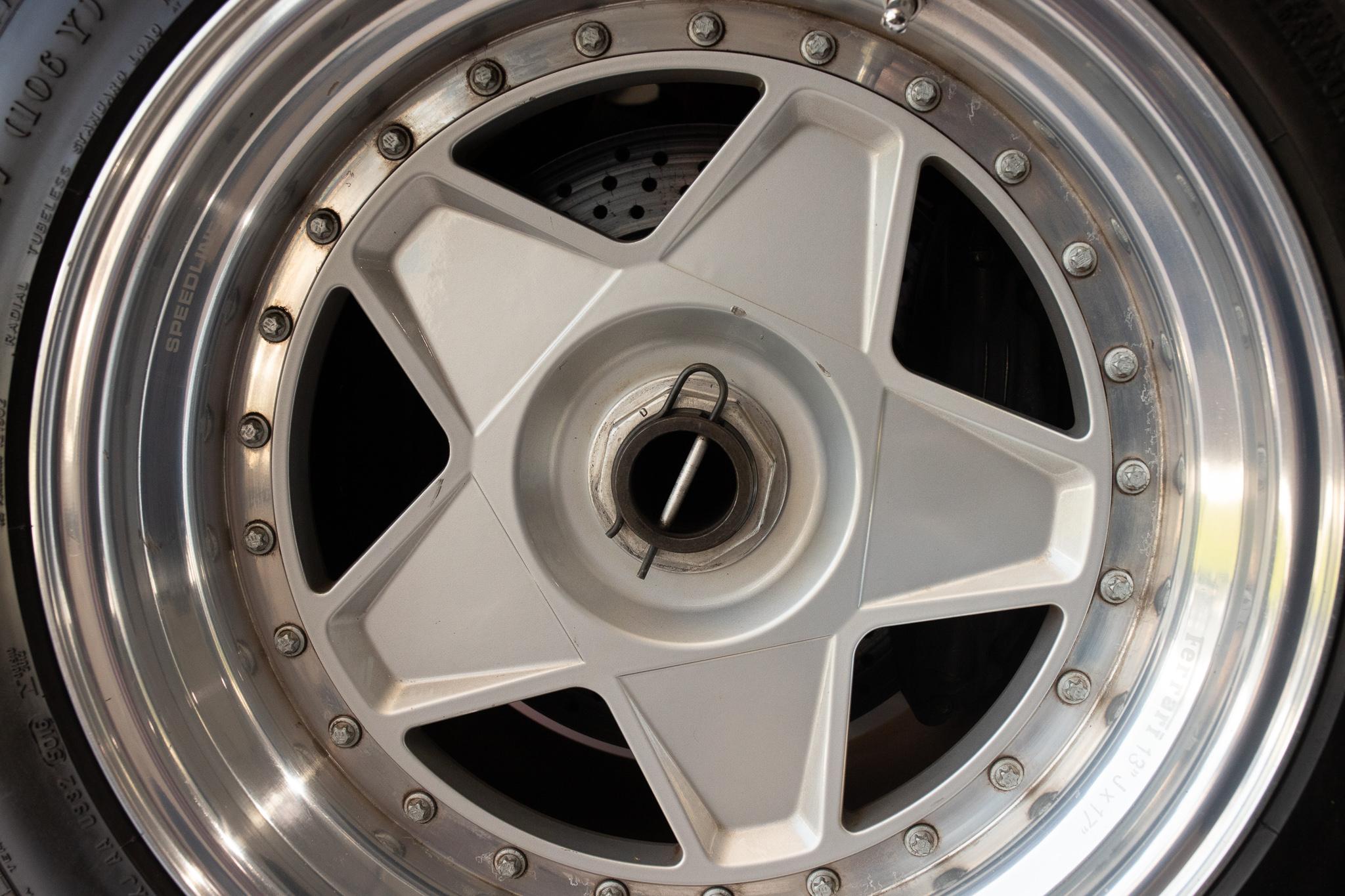 1991 Ferrari F40 wheel spare detail
