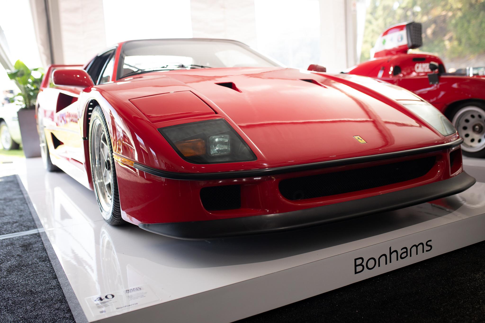 1991 Ferrari F40 front monterey auction