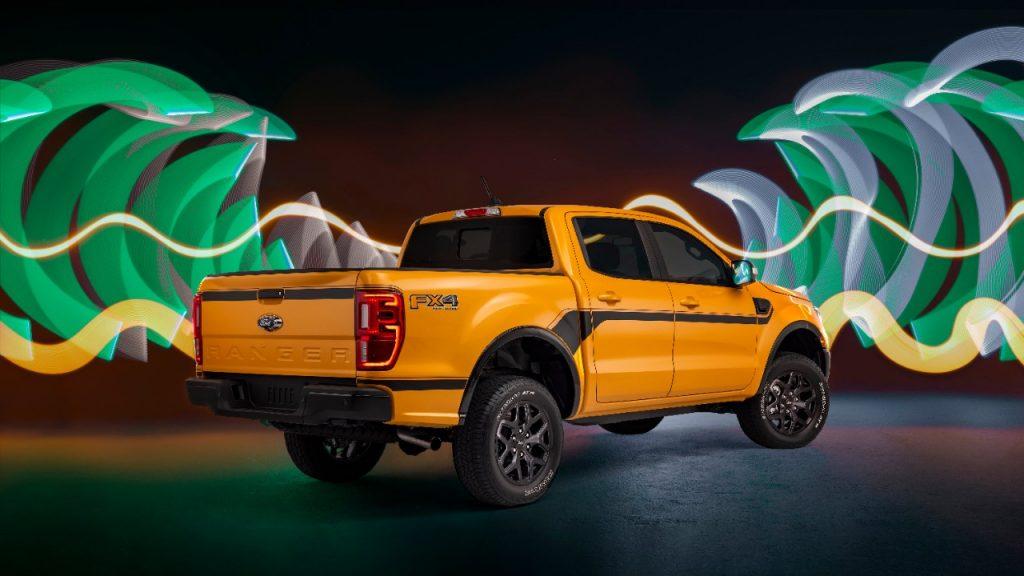 2022 Ford Ranger Splash rear three quarter