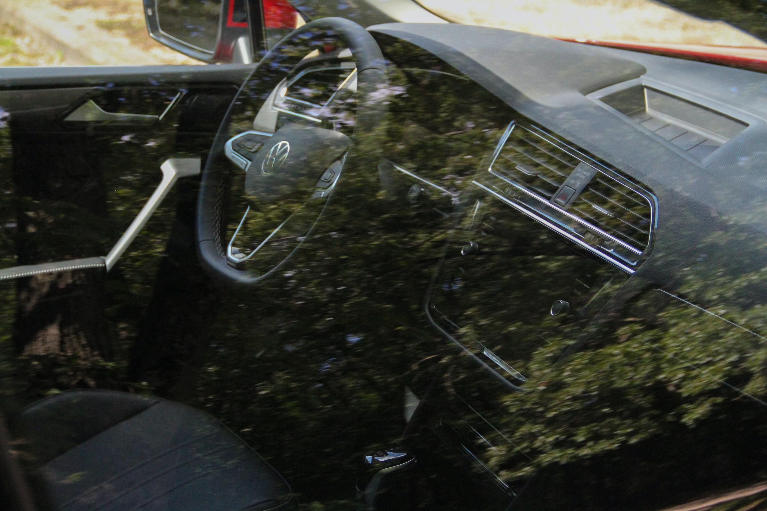 2022 VW Tiguan SE interior through glass
