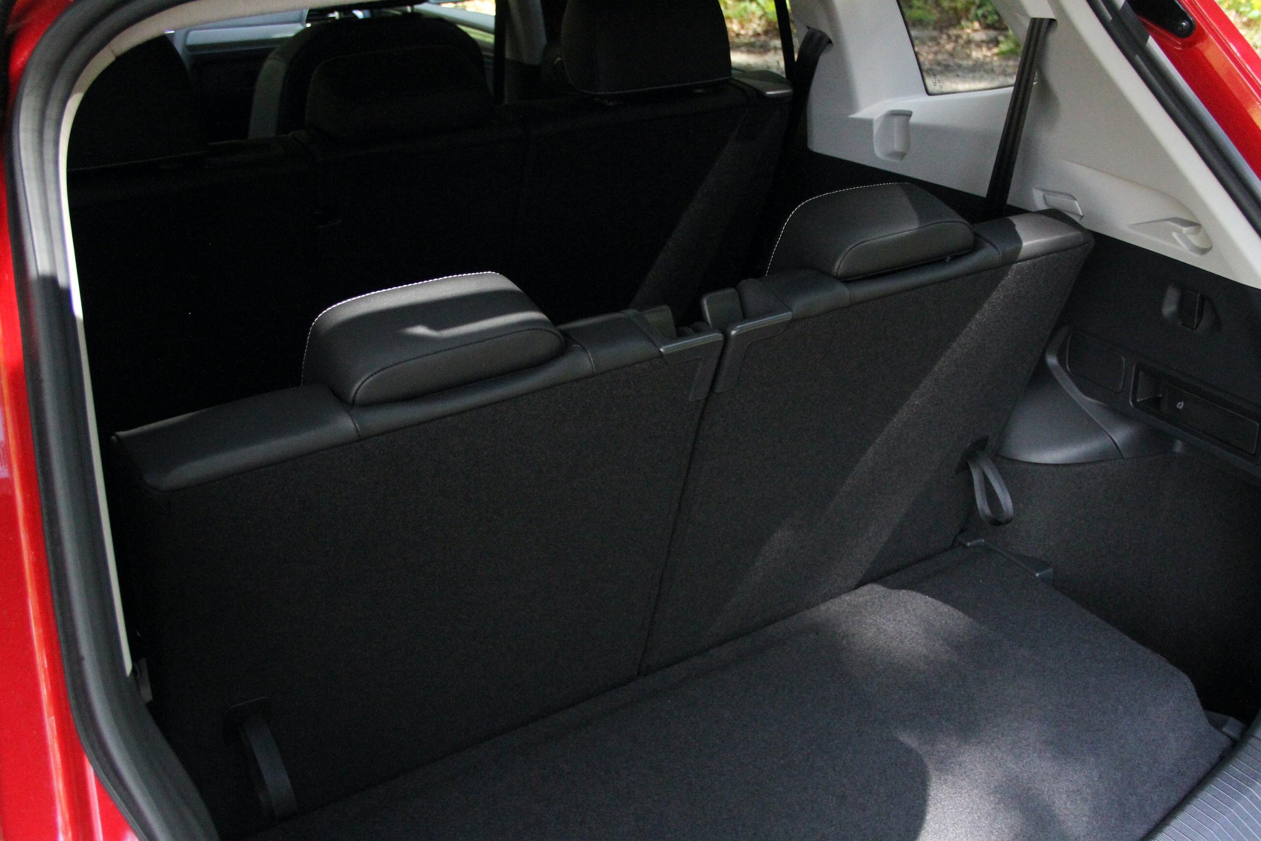 2022 VW Tiguan SE rear third row seat cargo