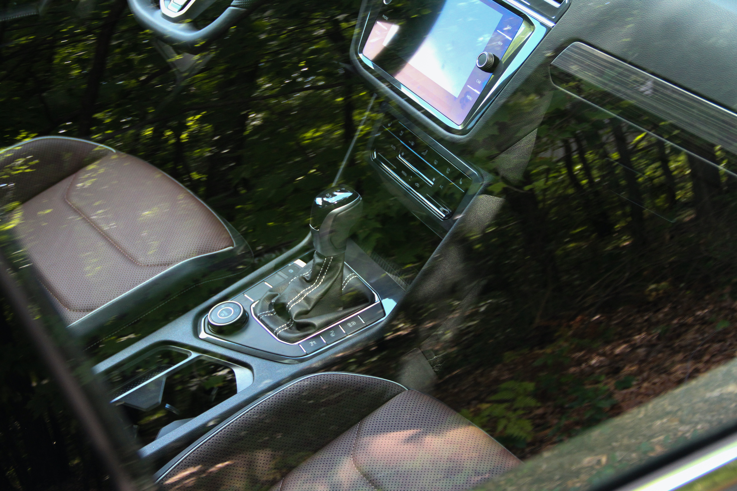 2022 VW Tiguan SEL R-Line interior through window