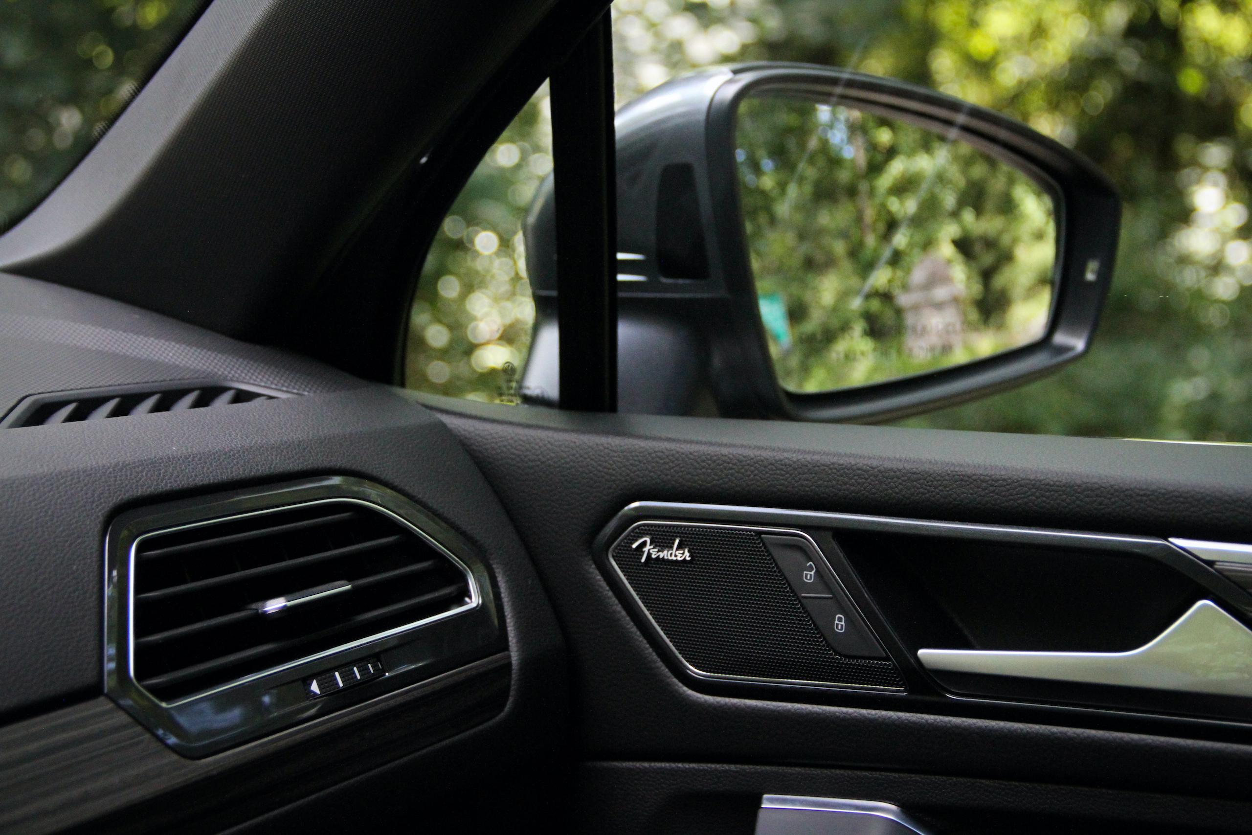 2022 VW Tiguan SEL R-Line interior trim materials